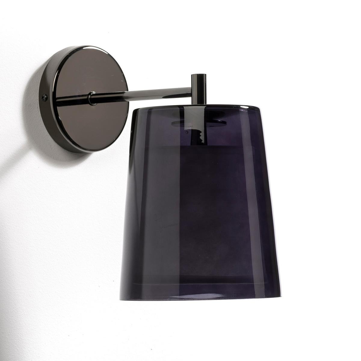 Светильник, DuoДизайнер - Эммануэль Галлина. Элегантность, очевидность и простота - это его ключевые понятия. Для него важны детали, чтобы запечатлеть каждое мгновение в линиях, форме и функциональности. Характеристики : - Подставка из хромированного металла темно-серого цвета  . - Патрон E14 для флюокомпактной лампочки макс 11W (не входит в комплект)  . - Совместима с лампочками электрического класса  A.     Размеры : - ?14,5 x 23,5 x 23,5 см<br><br>Цвет: дымчато-серый,прозрачный
