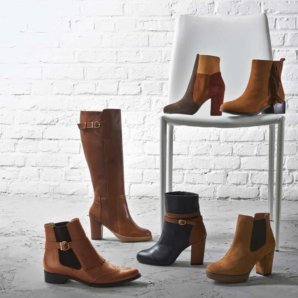 Ботильоны кожаные на широкую ногу, размеры 38-45Описание:Детали •  Высота каблука : 2,5 см •  Застежка : на молнию •  Заостренный мысокСостав и уход •  Верх 100% кожа •  Подкладка 100% текстиль •  Стелька 100% кожа •  Подошва 100% эластомер •  Произведено в Португалии<br><br>Цвет: темно-бежевый,черный<br>Размер: 45.43.42.45.44.38.43