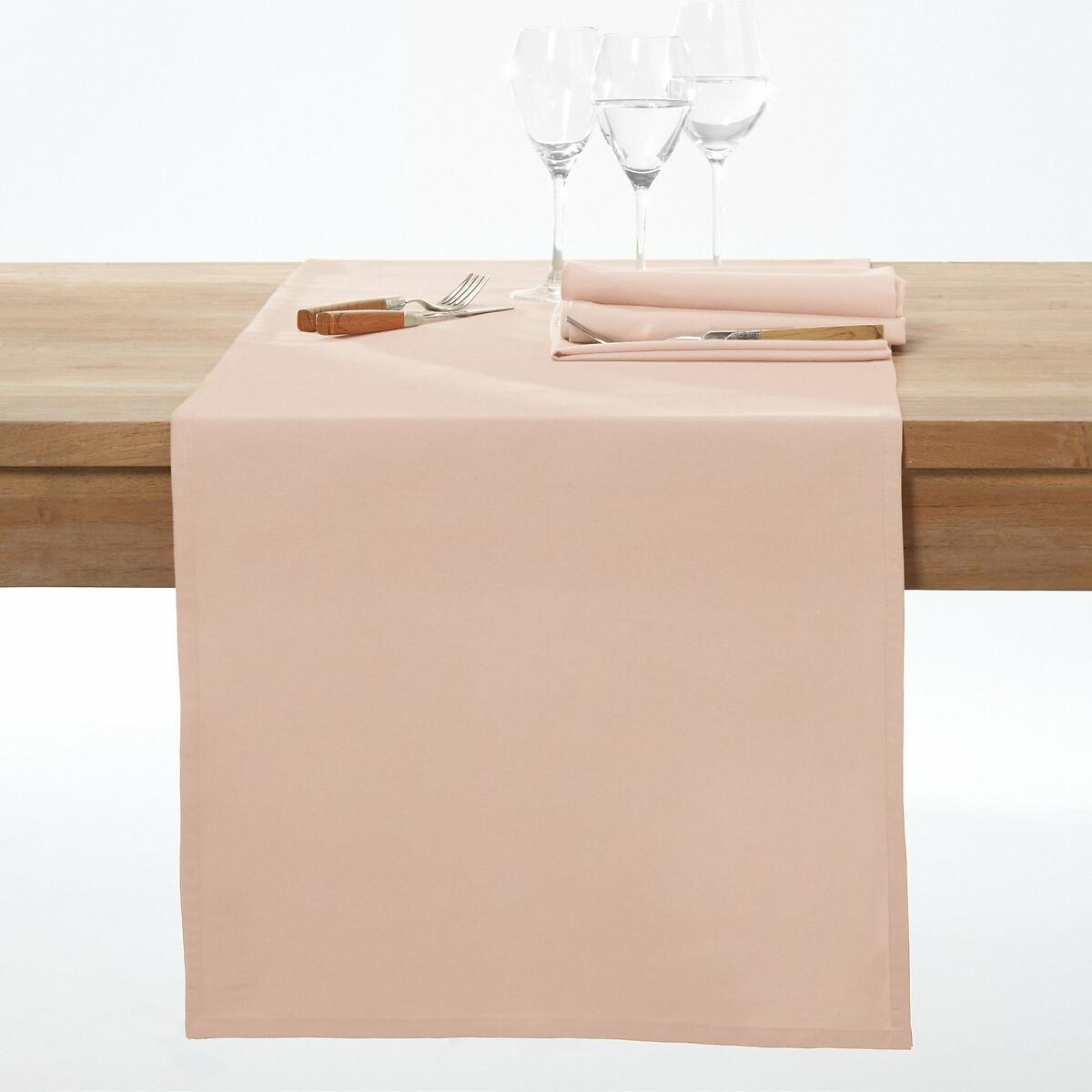 Дорожка LaRedoute Столовая с пропиткой против пятен SCENARIO 45 x 150 см розовый штора laredoute затемняющая с люверсами 100 хлопок scenario 220 x 135 см розовый