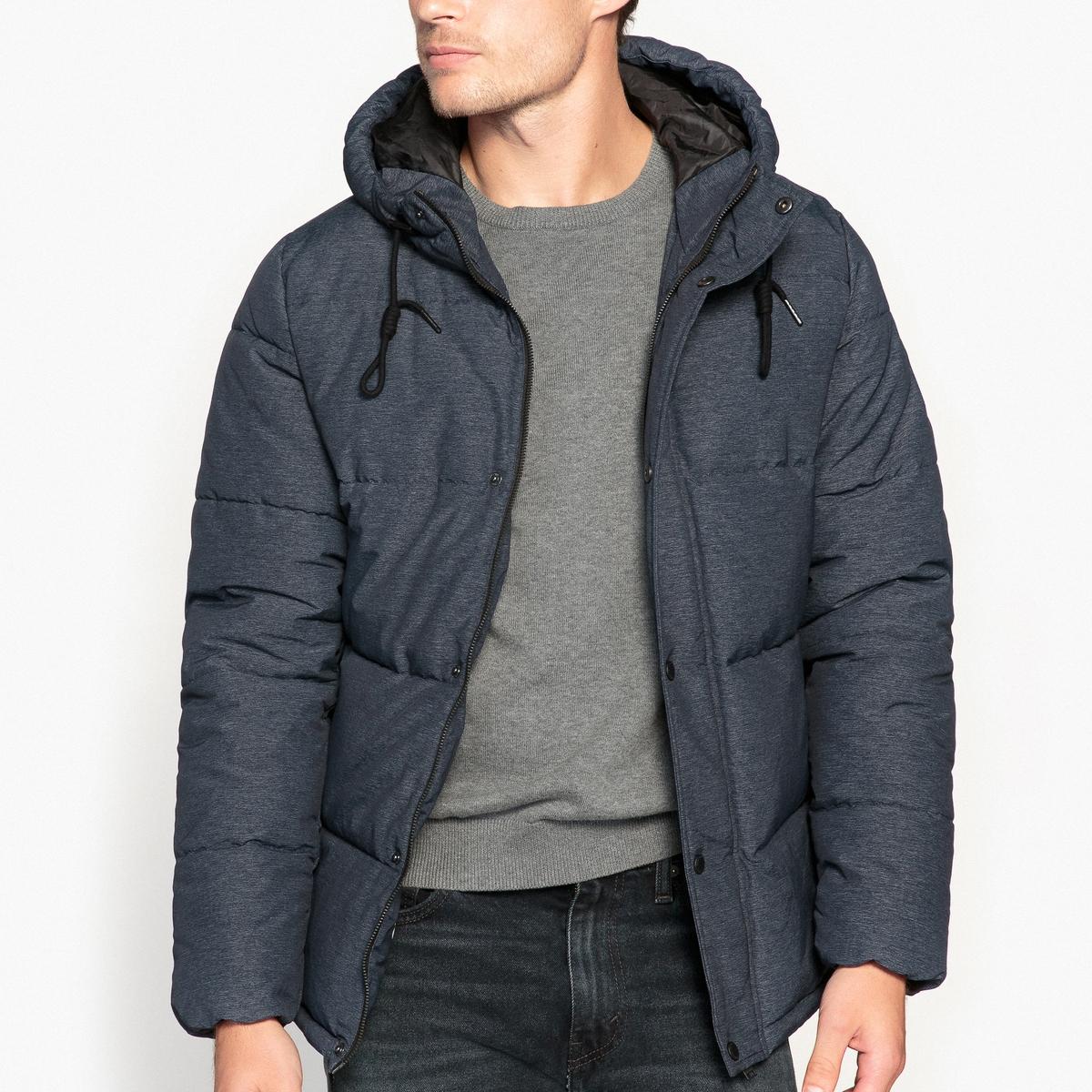 Куртка стеганая с капюшономДетали •  Длина : укороченная   •  Воротник-стойка •  Застежка на молнию •  С капюшоном Состав и уход •  72% полиамида, 28% полиэстера •  Следуйте советам по уходу, указанным на этикетке<br><br>Цвет: синий морской<br>Размер: S.M