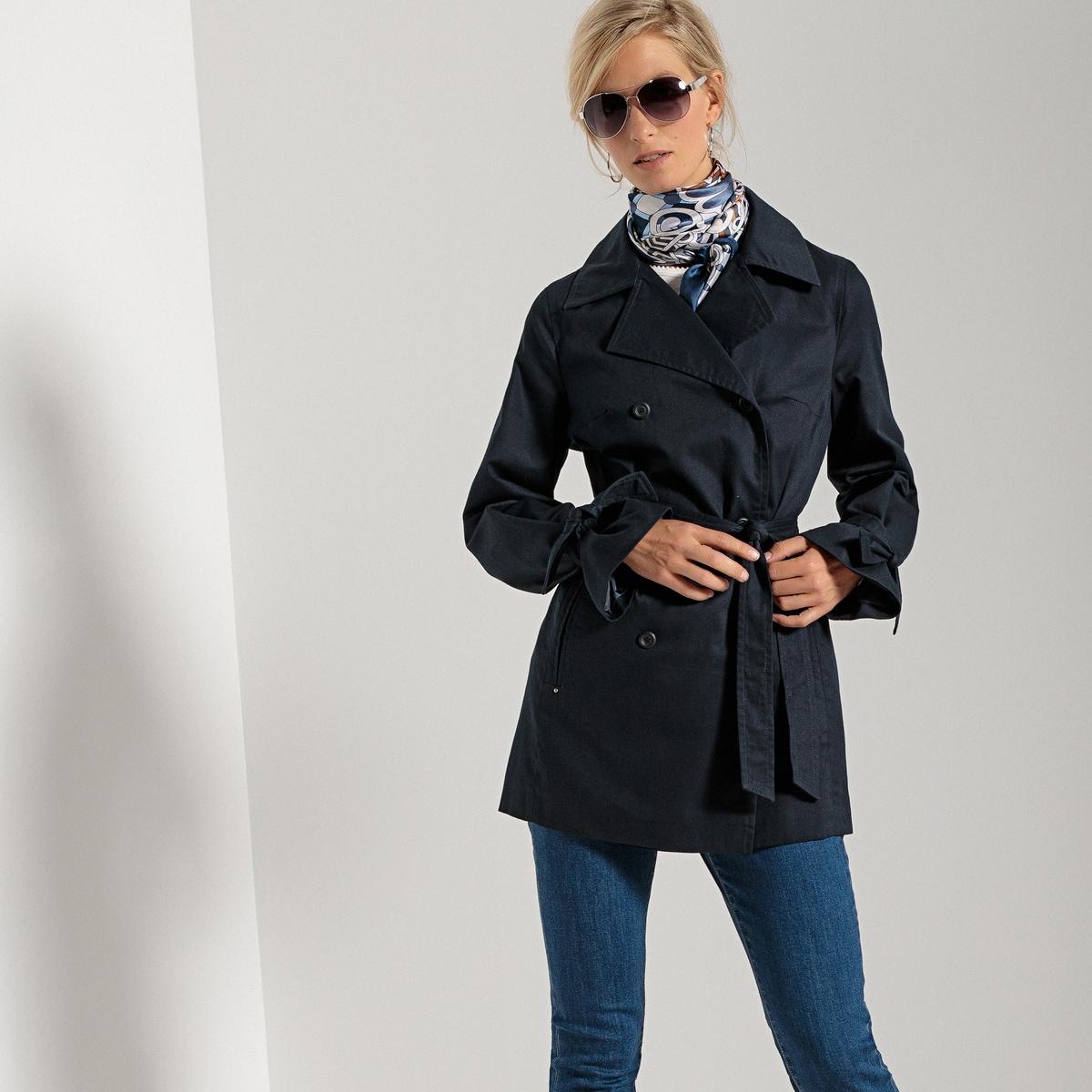 Kurzer Trenchcoat mit Teflon®-Beschichtung | Bekleidung > Mäntel > Trenchcoats | Polyamid - Polyester | ANNE WEYBURN