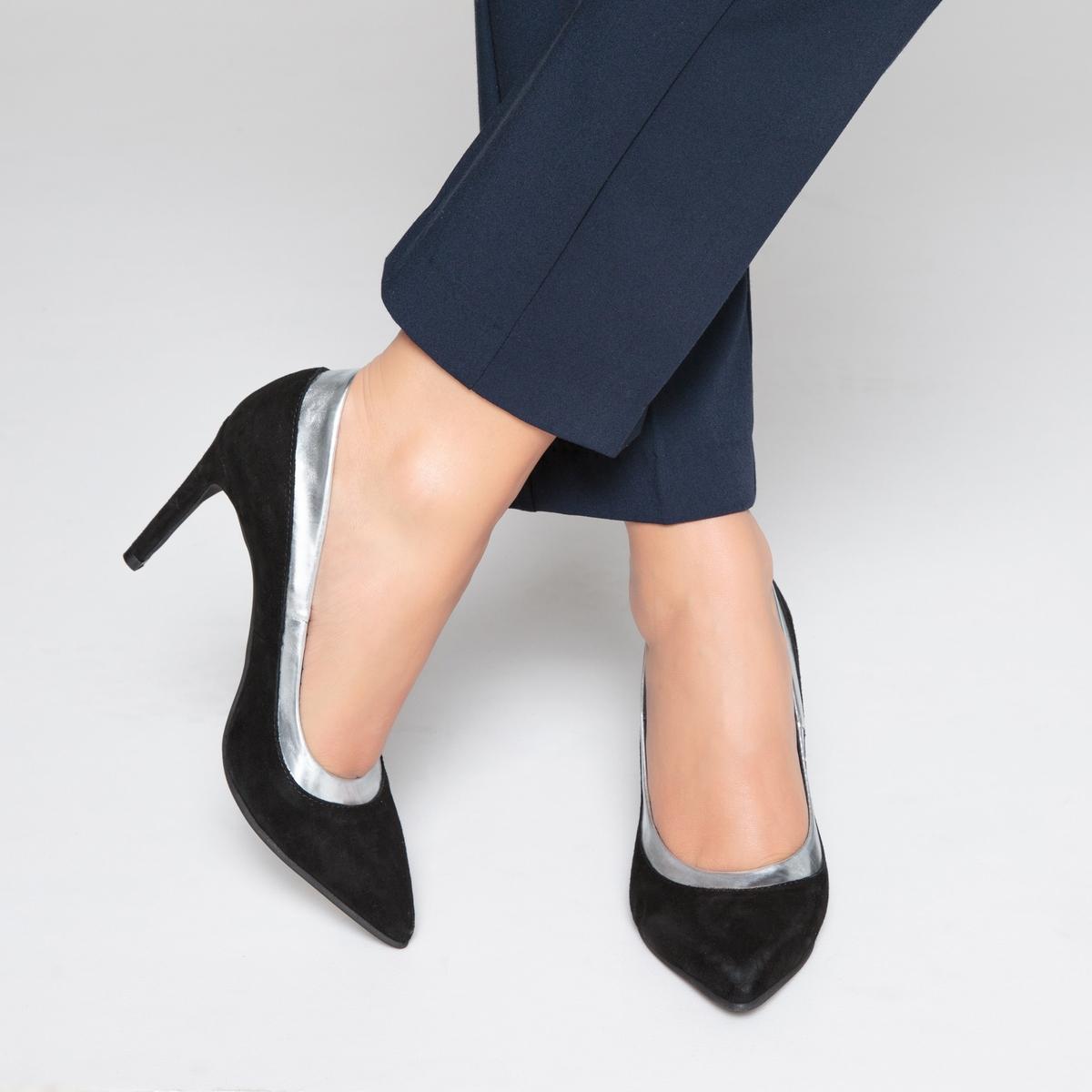 Туфли кожаные с волнистым краем
