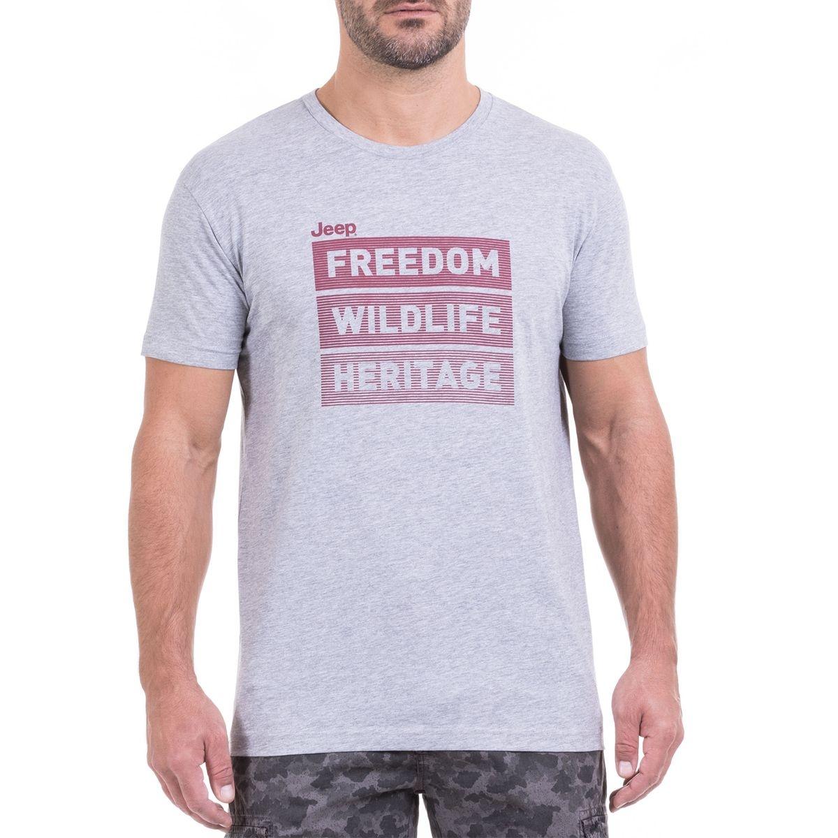 T-SHIRT  FREEDOM WILDLIFE HERITAGE  J9S