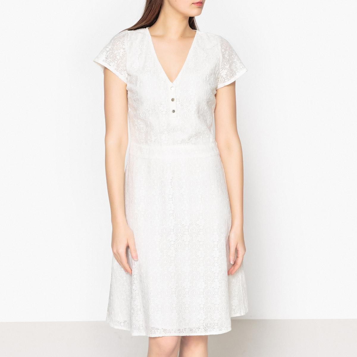 Платье с короткими рукавами из кружева FABIENNE