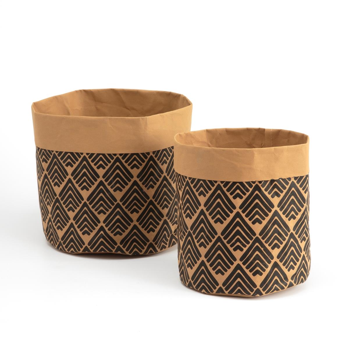 2 бумажные корзины с рисунком TREZI