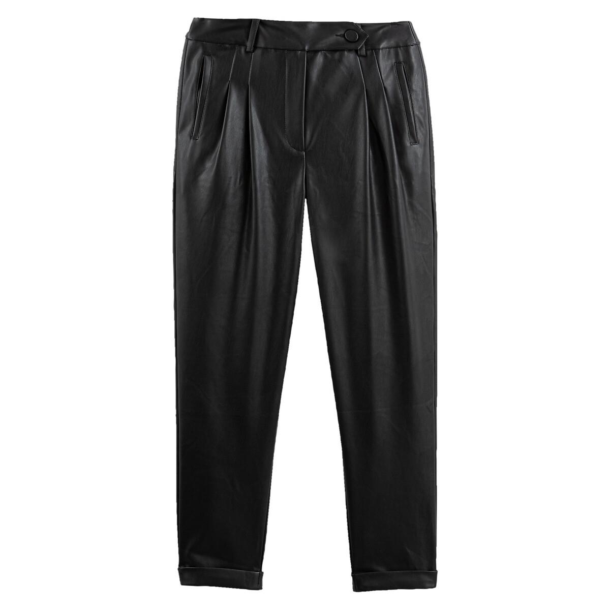 Pantalon à pinces en simili