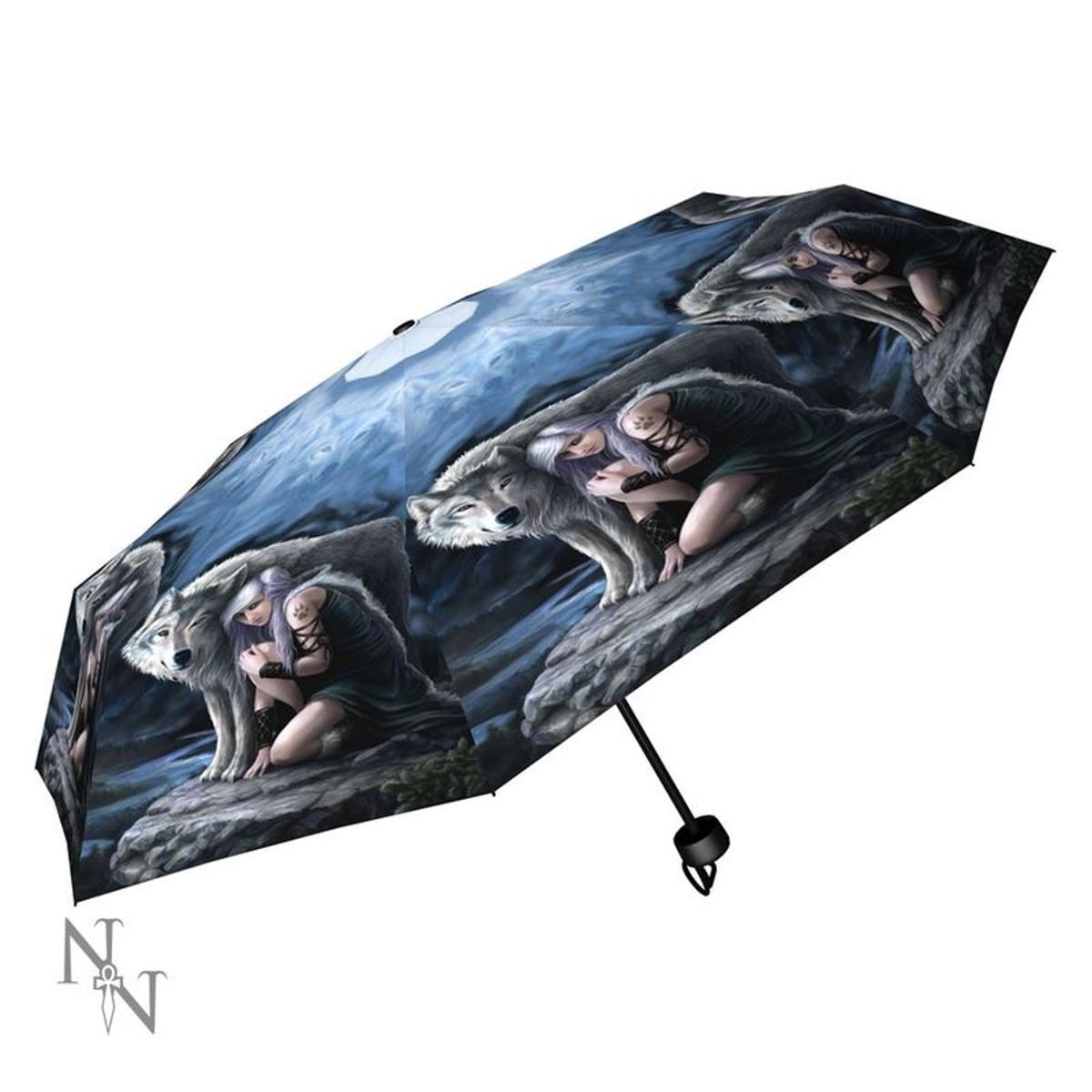Parapluie Loups Ange Gardien par Anne Stokes