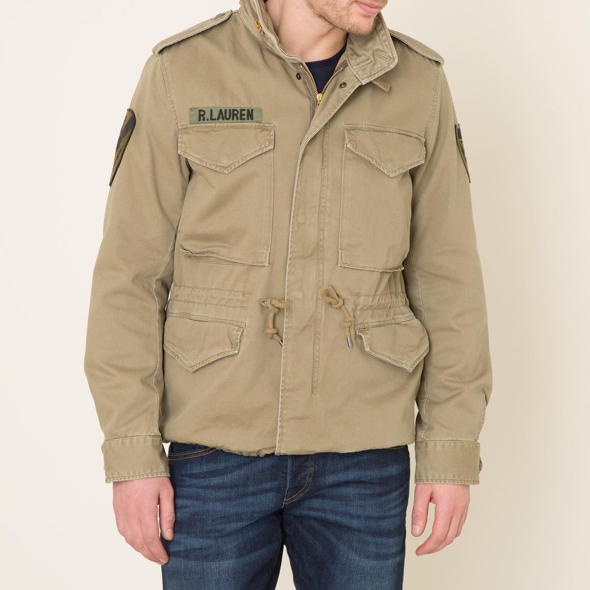 Куртка в стиле милитариСостав и описание    Материал : 100% хлопок   Марка : Denim and Supply Ralph Lauren<br><br>Цвет: хаки<br>Размер: M