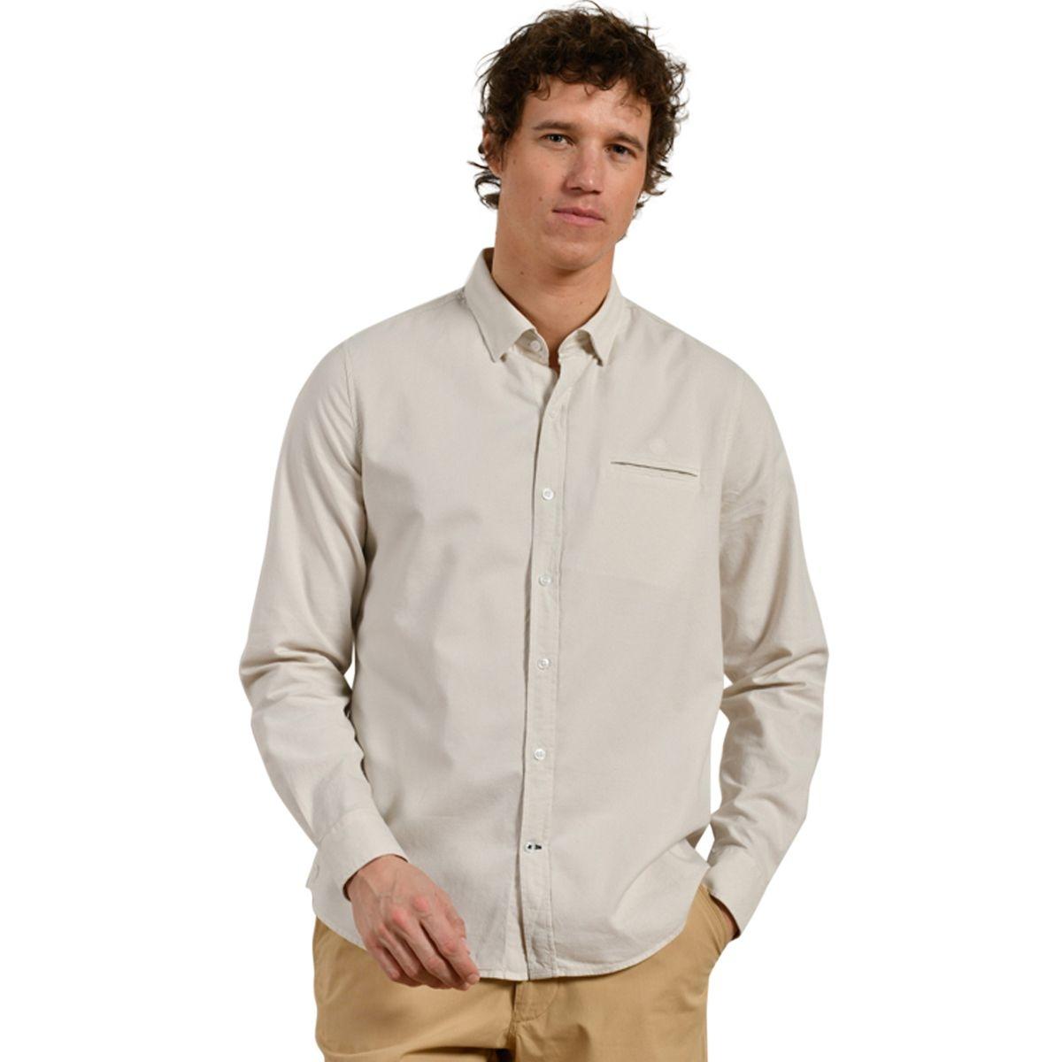 Chemise à détail poche en coton bio CARGUE