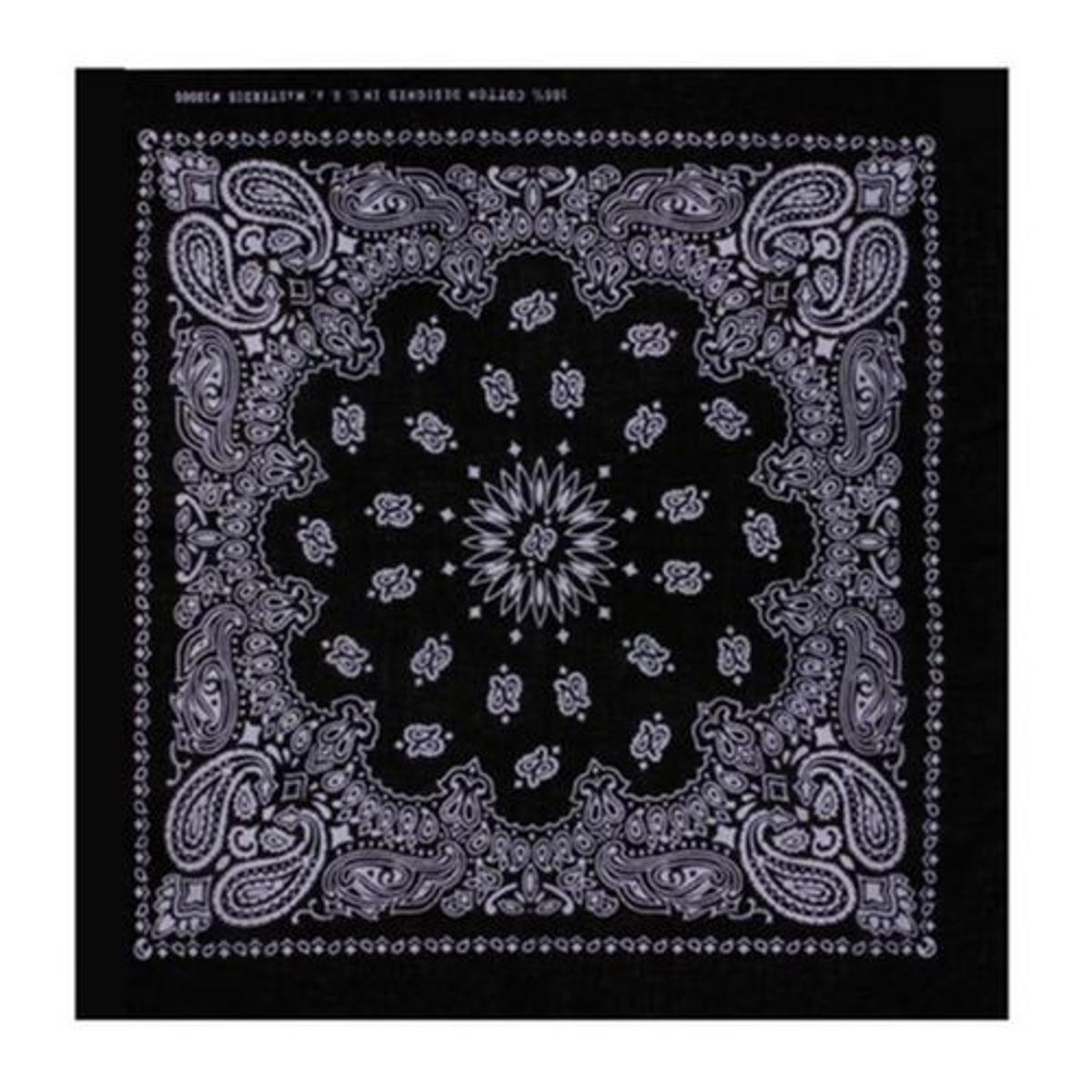 Bandana Noir Paisley Masterdis 50x50 cm Foulard