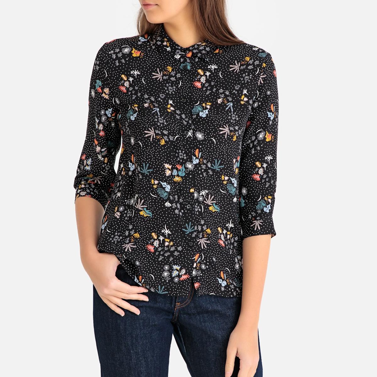 Блузка с рисунком и рукавами 3/4 MINA