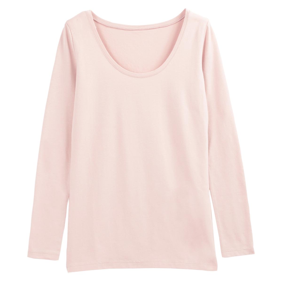 Camiseta amplia con cuello redondo, de manga larga