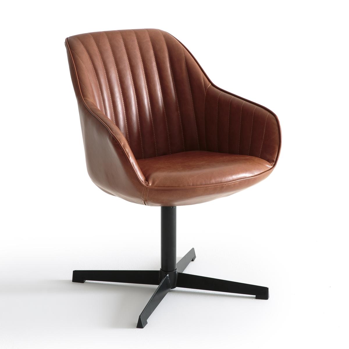 Кресло офисное вращающееся, HibaОфисное кресло Hiba. Простая и комфортная модель офисного кресла Hiba в винтажном стиле, то, что нужно.Описание офисного кресла Hiba :Вращающееся  сиденье без регулировки по высоте .Стеганые сидение и спинка.Отделка с наружной прошивкой  .Характеристики офисного кресла Hiba :Корпус из фанеры и стали с наполнителем из полиуретановой пены 30 г/м? и волокон полиэстера.Обивка из полиэстера с пропиткой из полиуретана.Стальные ножки с покрытием эпоксидной краской черного цвета.Всю коллекцию Hiba вы можете найти на сайте laredoute.ru.Размеры офисного кресла Hiba :Общие Ширина : 64 смВысота : 79,5 смДлина : 65,5 смСиденье : В.44 смРазмеры и вес упаковки:1 упаковкаШ.62,5 x В.53 x Г.58 см11 кгДоставка :Офисное кресло Hiba поставляется в разобранном виде. Возможна доставка до квартиры по предварительной договоренности  !Внимание ! Убедитесь, что дверные, лестничные и лифтовые проемы позволяют осуществить доставку коробки таких габаритов.<br><br>Цвет: коньячный