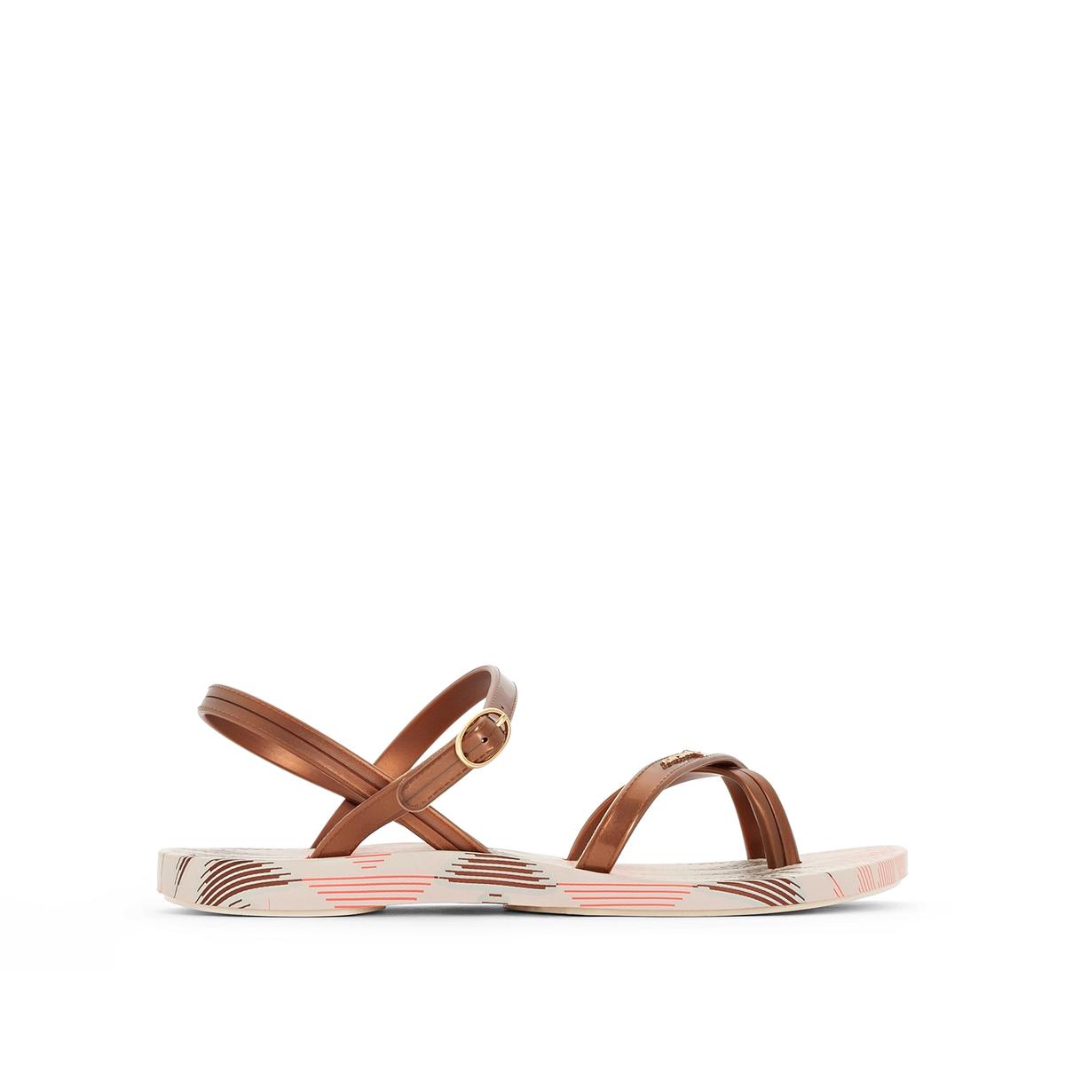 Сандалии Fashion Sandal IV FemВерх : Каучук   Стелька : Каучук   Подошва : Каучук   Форма каблука : плоский каблук.   Мысок : открытый мысок   Застежка : без застежки<br><br>Цвет: бежевый<br>Размер: 40
