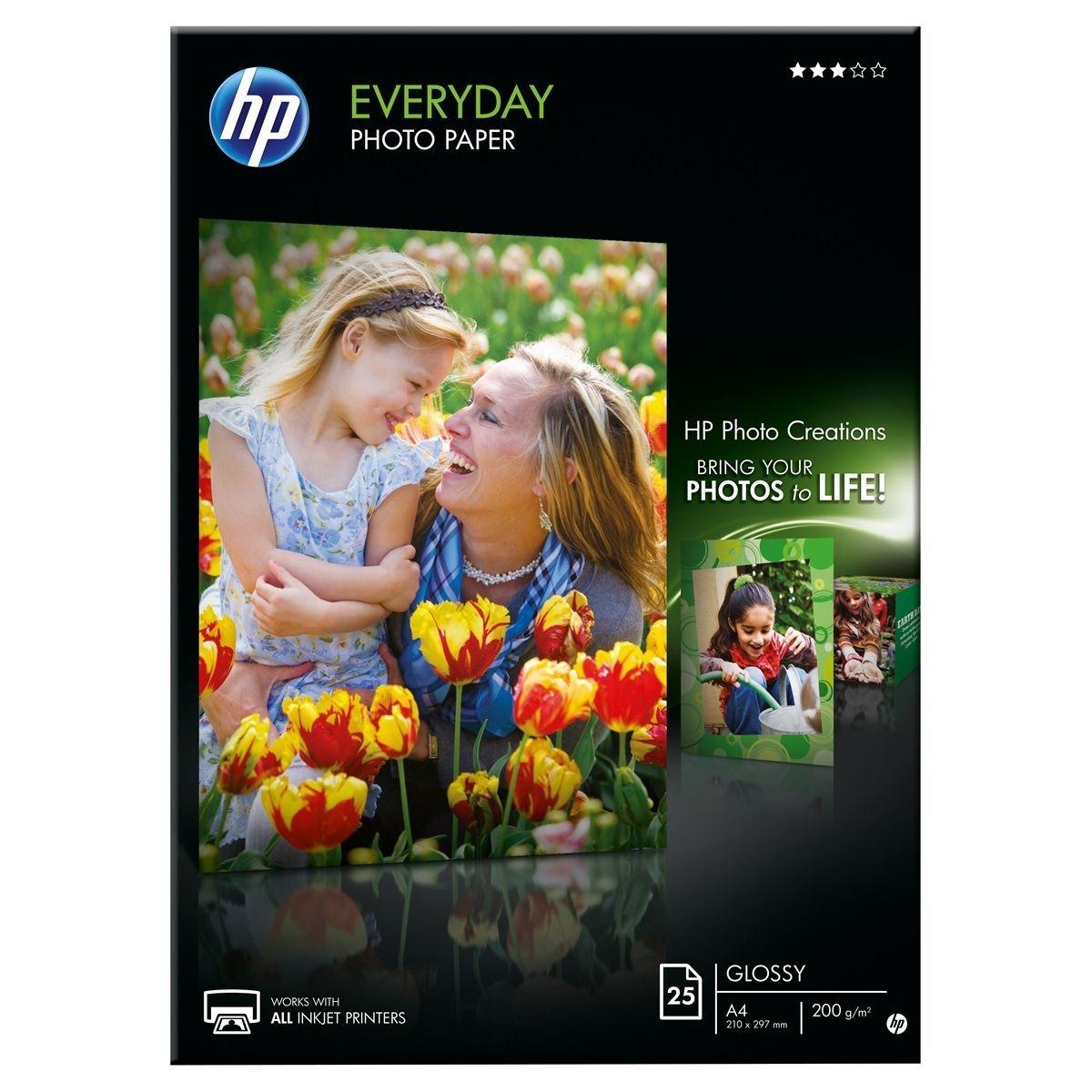 Papier photo HP Q5451A - A4-25f-200g/m²