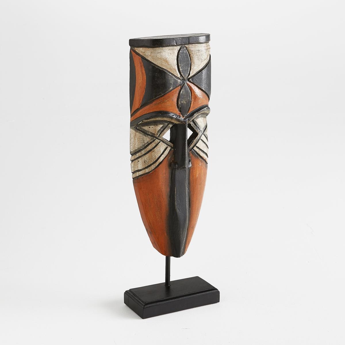 Маска африканская, AsiagoАфриканская маска Asiago. Оригинальная маска добавит нотку экзотики в ваш интерьер. Из массива дерева манго с состаренным эффектом. Ручная работа. Размеры  : Д20 x В62 x Г10 см<br><br>Цвет: экрю/оранж./черный<br>Размер: единый размер