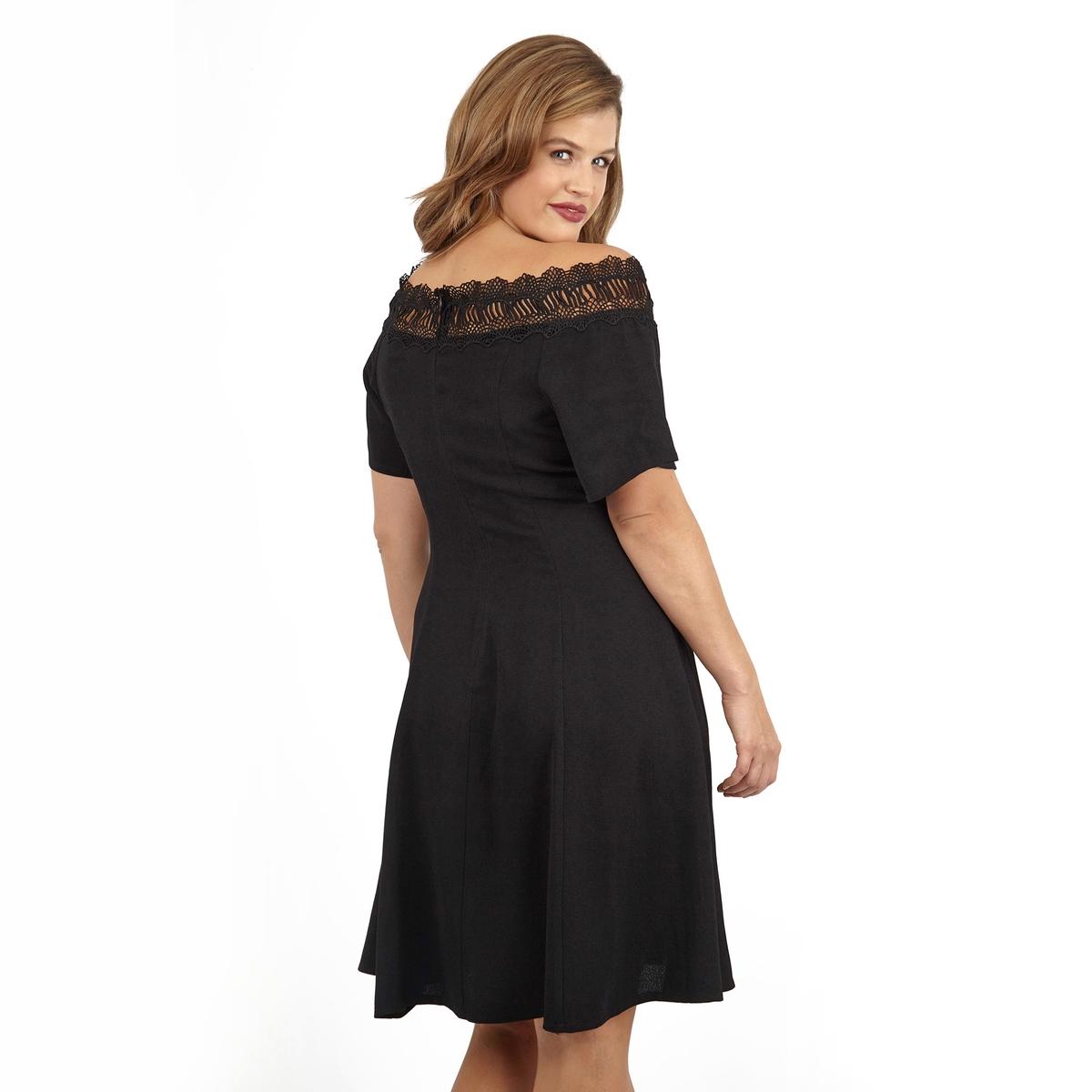 ПлатьеПлатье LOVEDROBE. 100% полиэстер.<br><br>Цвет: черный<br>Размер: 44 (FR) - 50 (RUS).54/56 (FR) - 60/62 (RUS).50/52 (FR) - 56/58 (RUS)