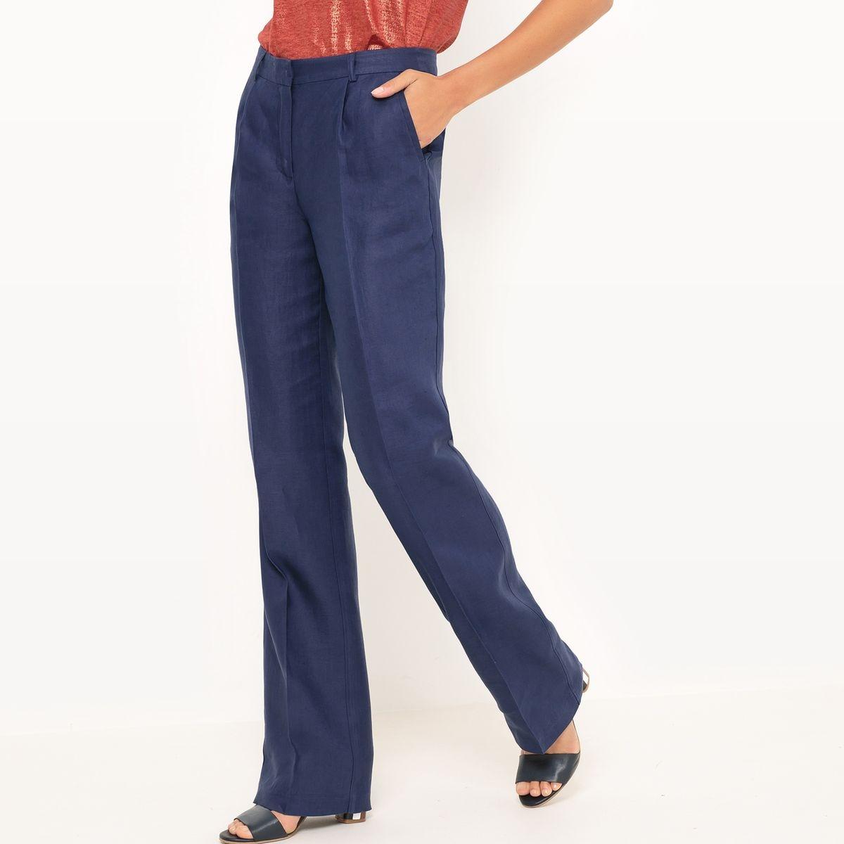 Pantalon droit, 100% lin
