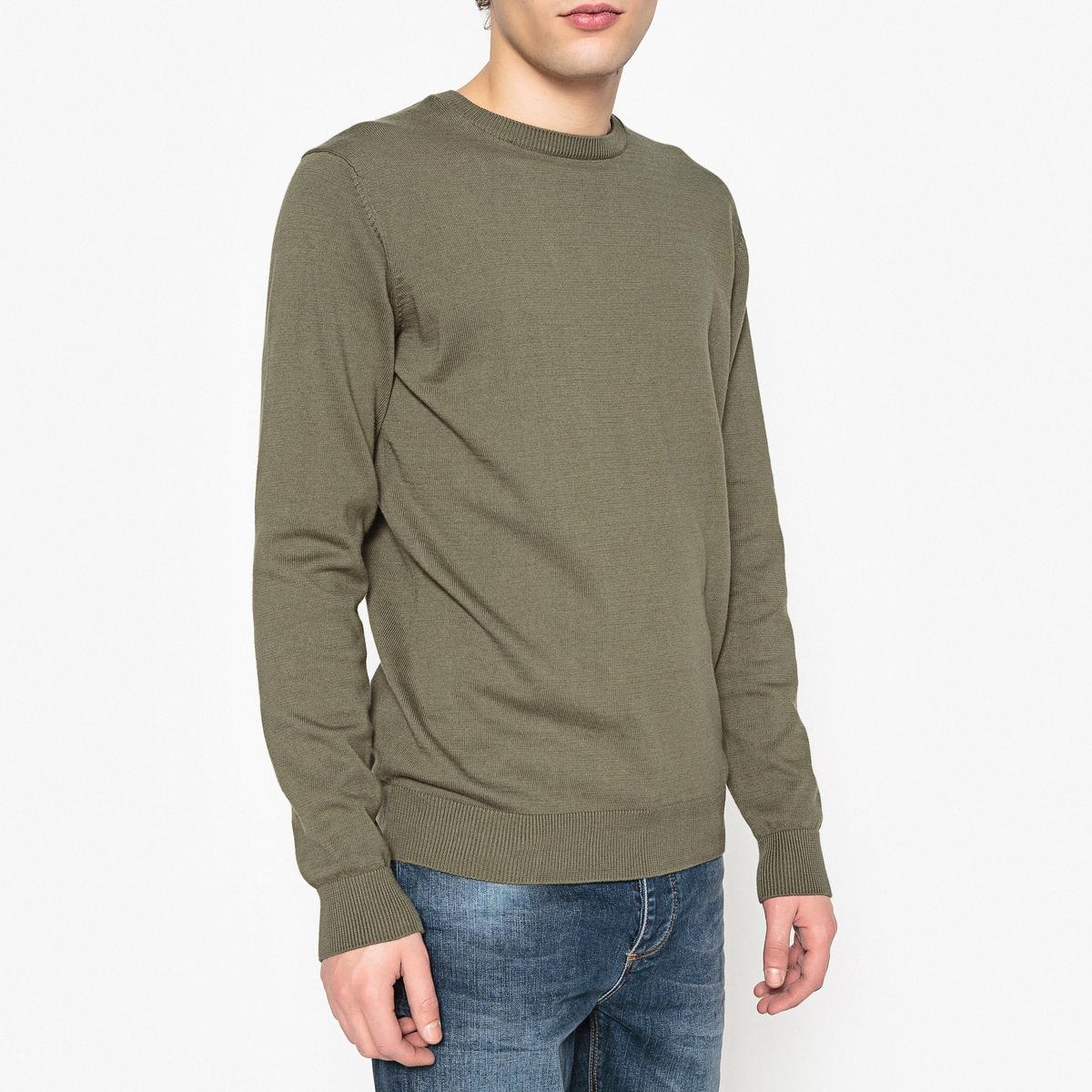 Пуловер с круглым вырезом 100% хлопкаПуловер с длинными рукавами. Прямой покрой, круглый вырез. Края низа и рукавов связаны в рубчик.Состав и описание :Материал : 100% хлопкаМарка : R essentiel.<br><br>Цвет: зеленый хаки,розовый