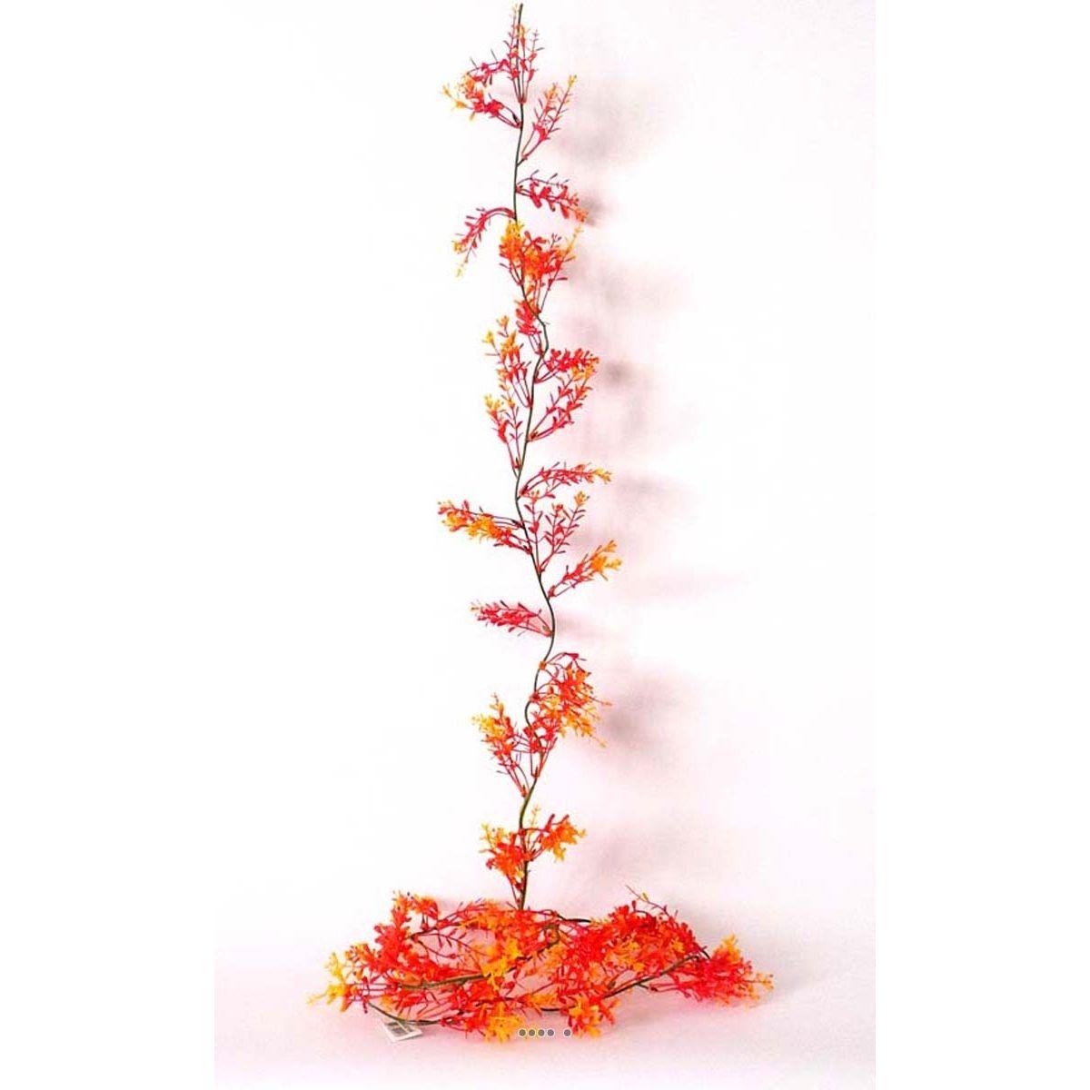 Guirlande de 60 Herbe de Corail Orange artificielles plastique L 180 cm - choisissez votre coloris: Orange