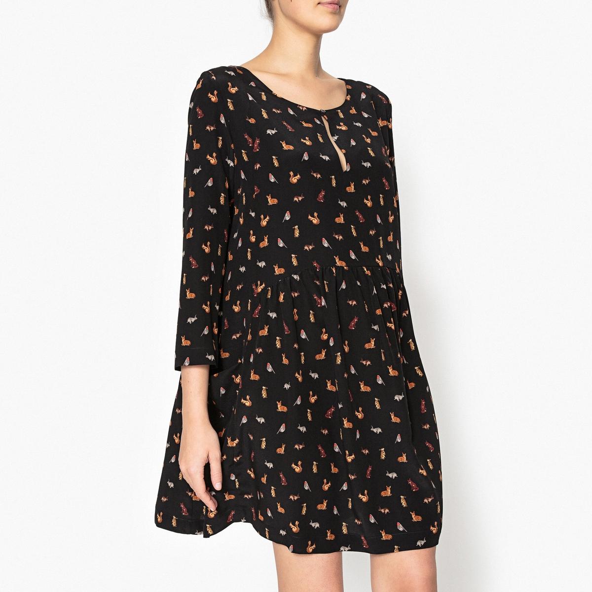 Платье из шелка с рисунком DENISE