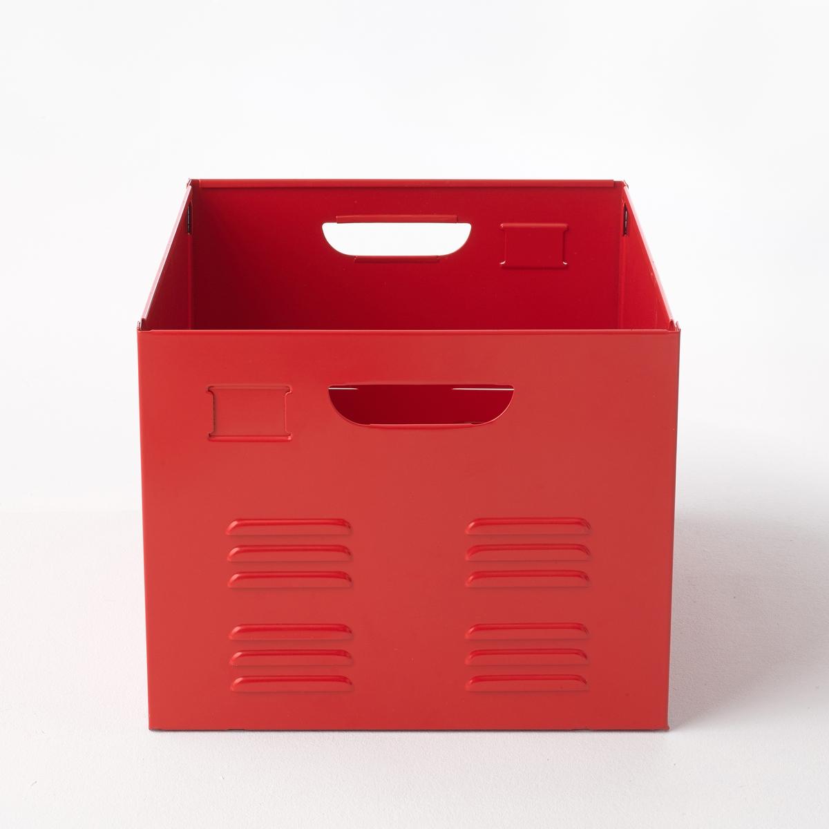 Ящик металлический HibaВся коллекция Hiba на сайте laredoute.ru. Описание ящика Hiba:2 металлические ручки.Характеристики ящика Hiba:Металл, лакированное покрытие.Размеры ящика Hiba:Общие:Длина 37,5 см.Ширина 46,6 см.Высота 30,2 см. Размеры и вес упаковки:1 упаковка. 54 x 45 x 12 см. 6,8 кг.Металлический ящик Hiba продается в разобранном виде.<br><br>Цвет: красный,розовый,серый,черный