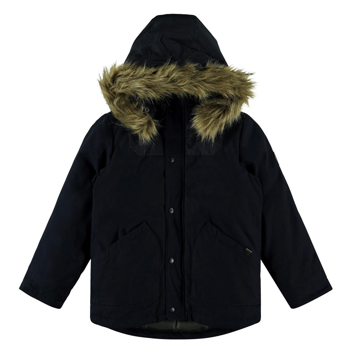 цена Парка La Redoute Зимняя с капюшоном 13 лет - 153 см синий онлайн в 2017 году