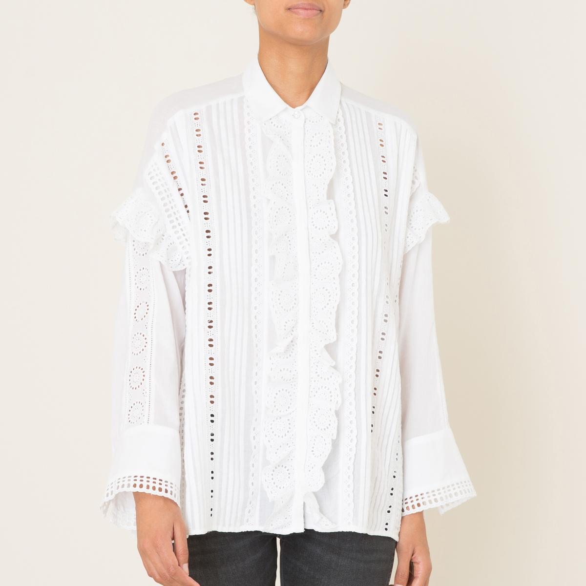 Рубашка из хлопка.Состав и описание Материал : 100% хлопокМарка : THE KOOPLES<br><br>Цвет: белый
