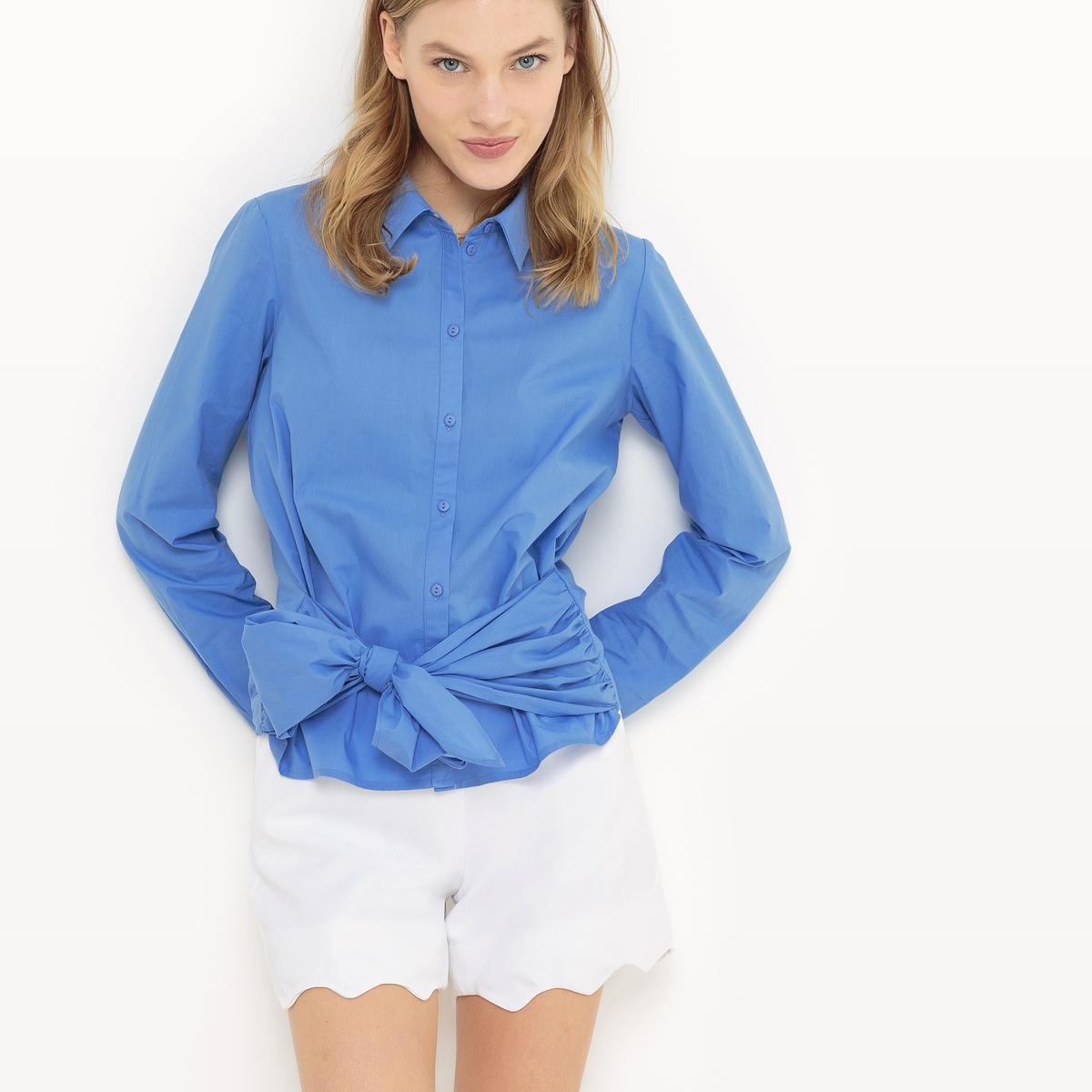 Рубашка прямого покроя из хлопкаДетали   •  Длинные рукава  •  Прямой покрой  •  Воротник-поло, рубашечный Состав и уход  •  100% хлопок  •  Просьба следовать советам по уходу, указанным на этикетке изделия<br><br>Цвет: синий