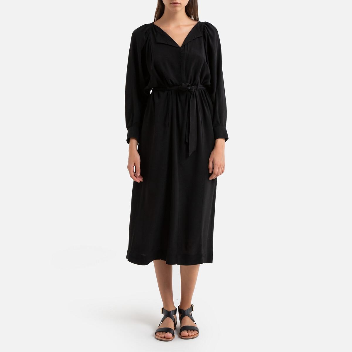 Платье La Redoute Длинное с длинными рукавами INDIANA 38 (FR) - 44 (RUS) черный