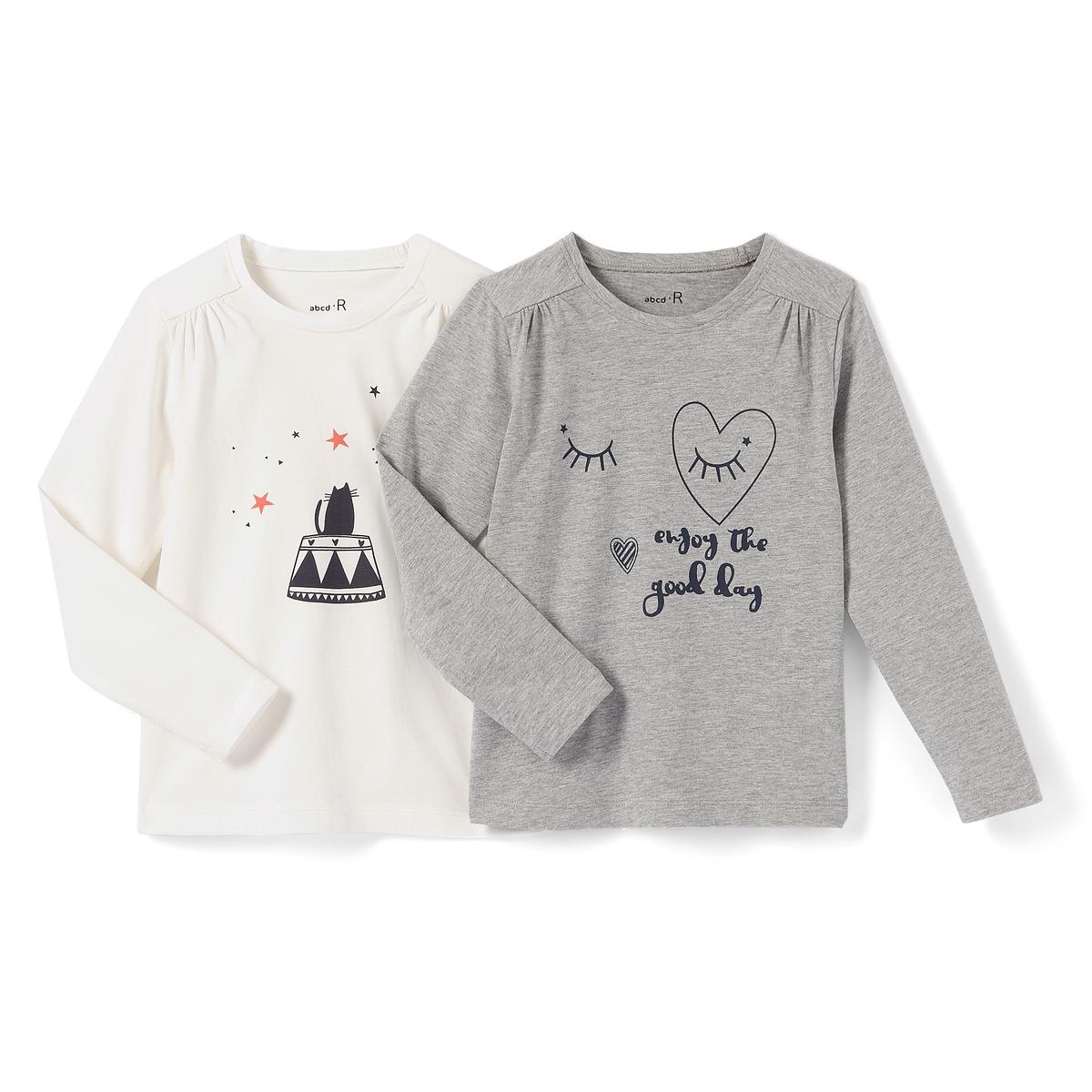 Комплект из 2 футболок с рисунком, 3-12 лет
