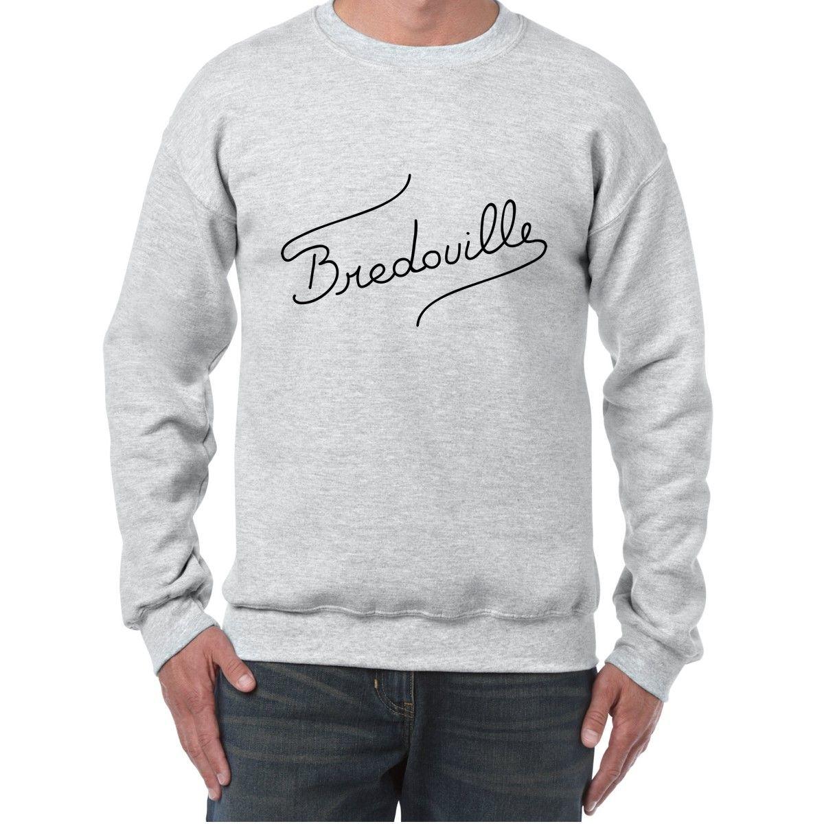 Sweat Col Rond Imprime Logo Bredouille