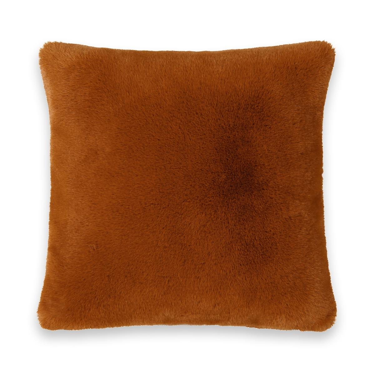 Чехол La Redoute На подушку из искусственного меха Noursi 40 x 40 см каштановый чехол навололчка la redoute aeri 40 x 40 см бежевый