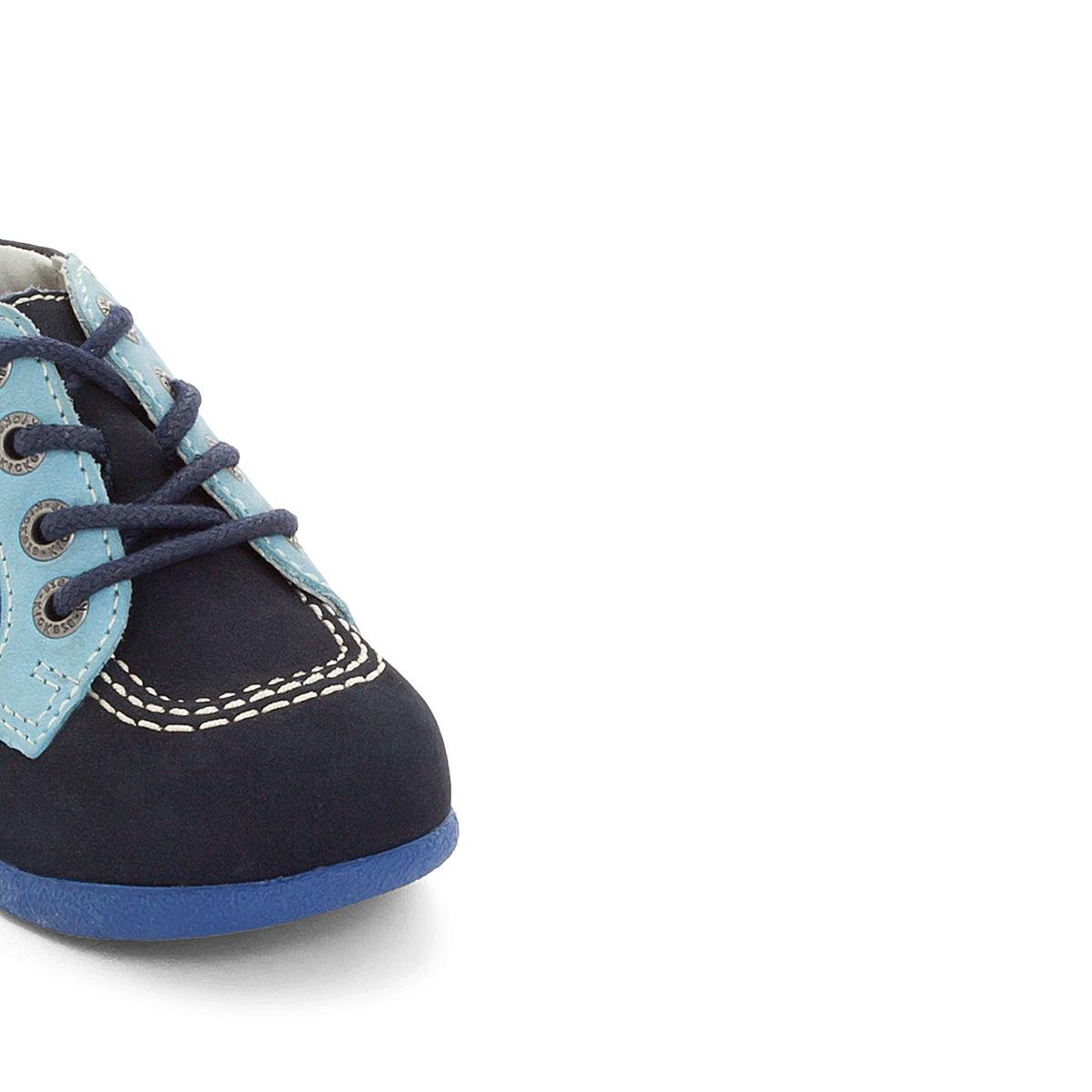 Ботинки BabystanВерх : нубук   Подкладка : Без подкладки   Стелька : ВелюрПодошва : Каучук   Застежка : Шнуровка<br><br>Цвет: синий
