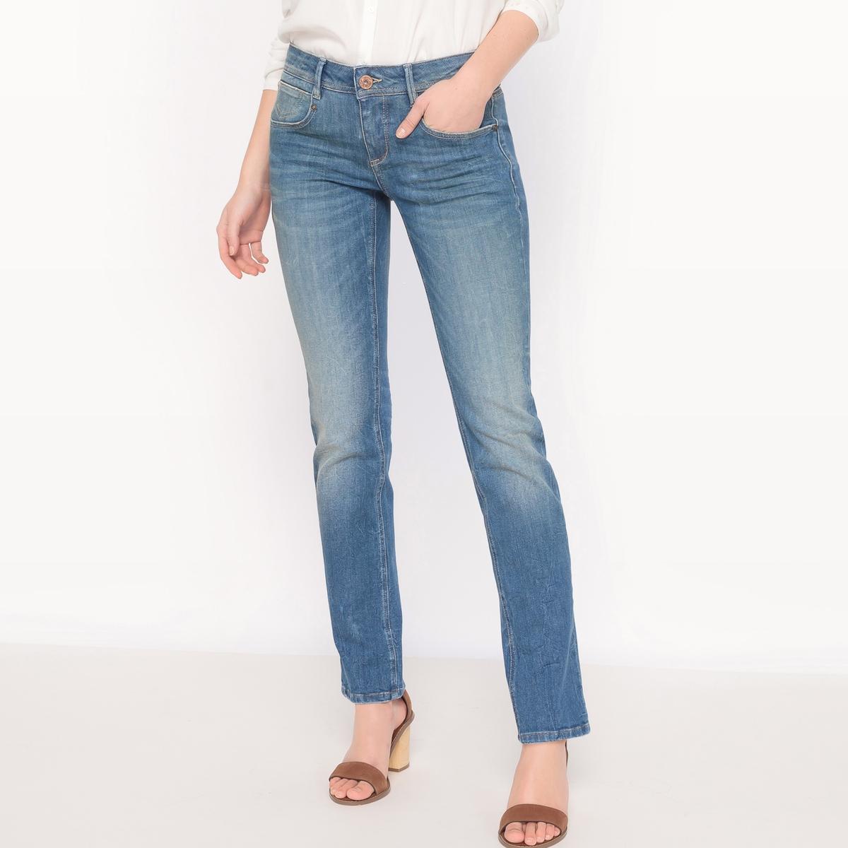 Джинсы прямые CHARLIE, стандартная высота поясаМатериал : 90% хлопка, 8% эластомультиэстера, 2% эластана            Высота пояса : стандартная          Покрой джинсов : классический, прямой          Длина джинсов : длина 32<br><br>Цвет: синий<br>Размер: 25 длина 32.24 длина 32.27 длина 32.29 длина 32