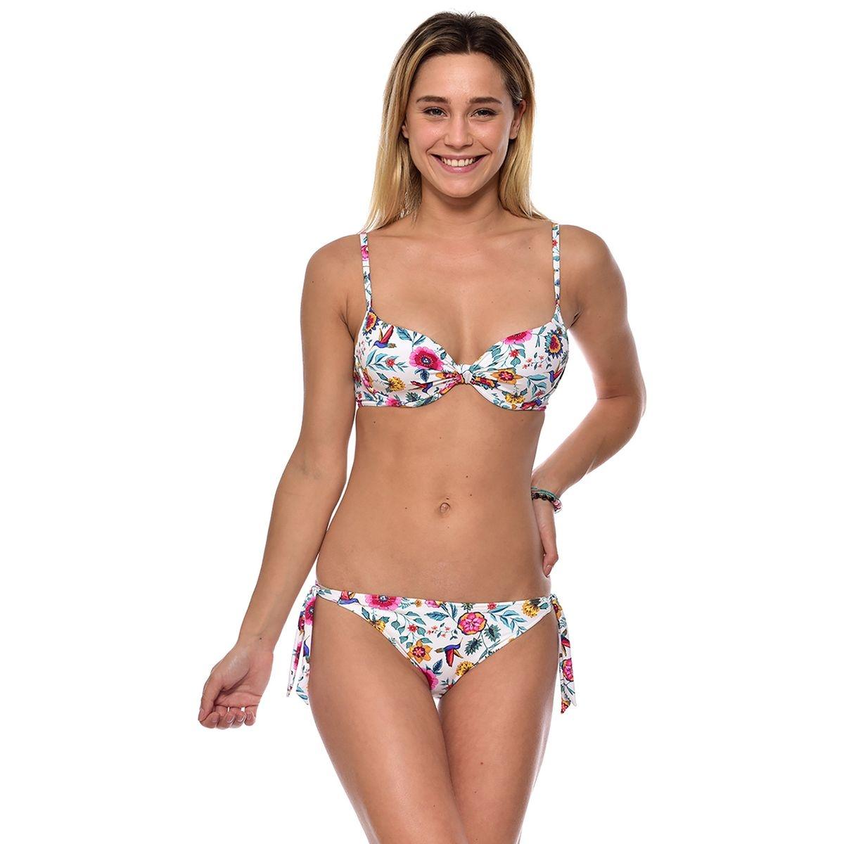 Bas de maillot de bain culotte bikini floral