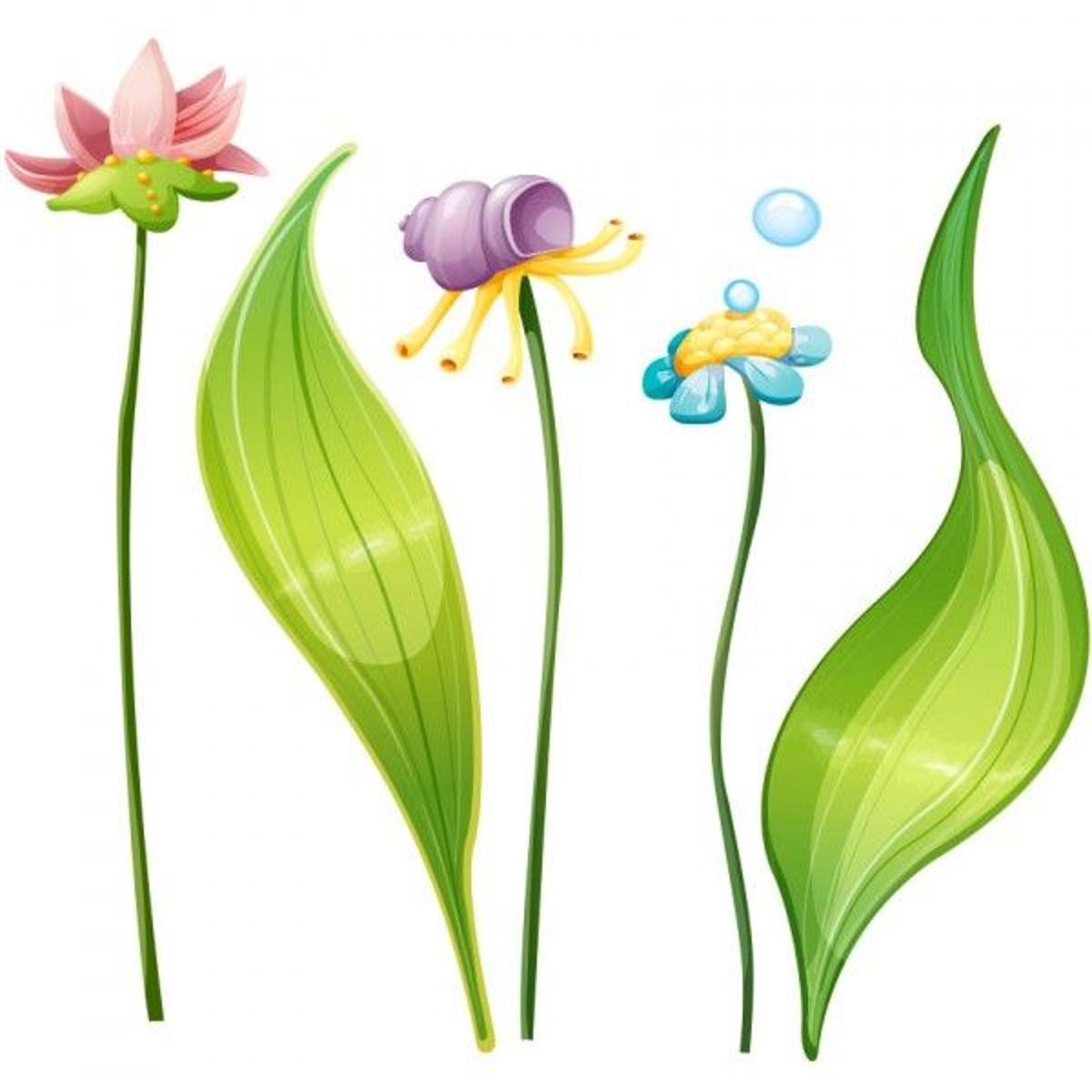 Stickers mer : Plantes aquatiques