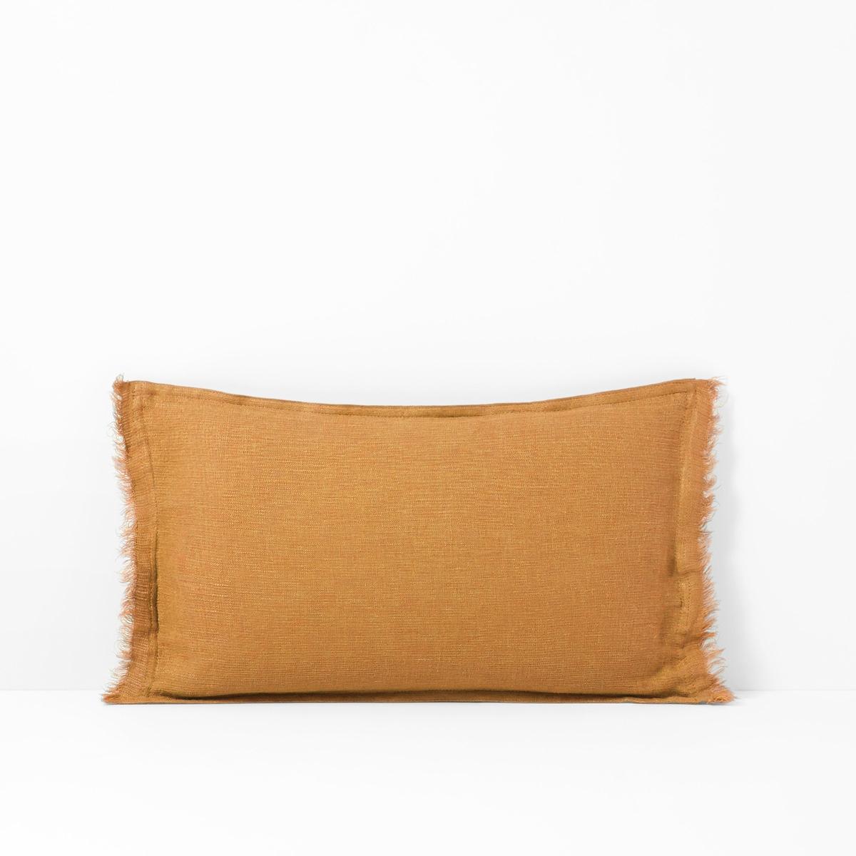 Чехол на подушку из стиранного льна Qualit? Best LINANGEОписание:Натуральный материал и изысканные цвета, однотонный чехол на подушку Linange Qualit? Best отлично сочетается с однотонным или разноцветным постельным бельем в спальне или гостиной. Характеристики льняного чехла для подушки Linange:- качество Qualit? Best.- 100 % стираный лен.- отделка бахромой с 2 сторон..    Размеры чехла для подушки Linange:50 x 30 см. Всю коллекцию Linange и нашу коллекцию текстиля для интерьера Вы найдете на laredoute.ruЗнак Oeko-Tex® гарантирует, что товары прошли проверку и были изготовлены без применения вредных для здоровья человека веществ.<br><br>Цвет: охра