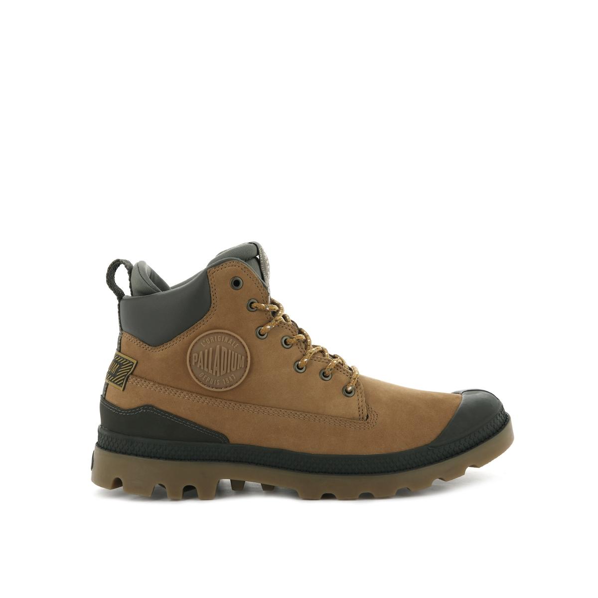 цена Ботинки La Redoute Кожаные Pampa SC Outsider WP 45 каштановый онлайн в 2017 году
