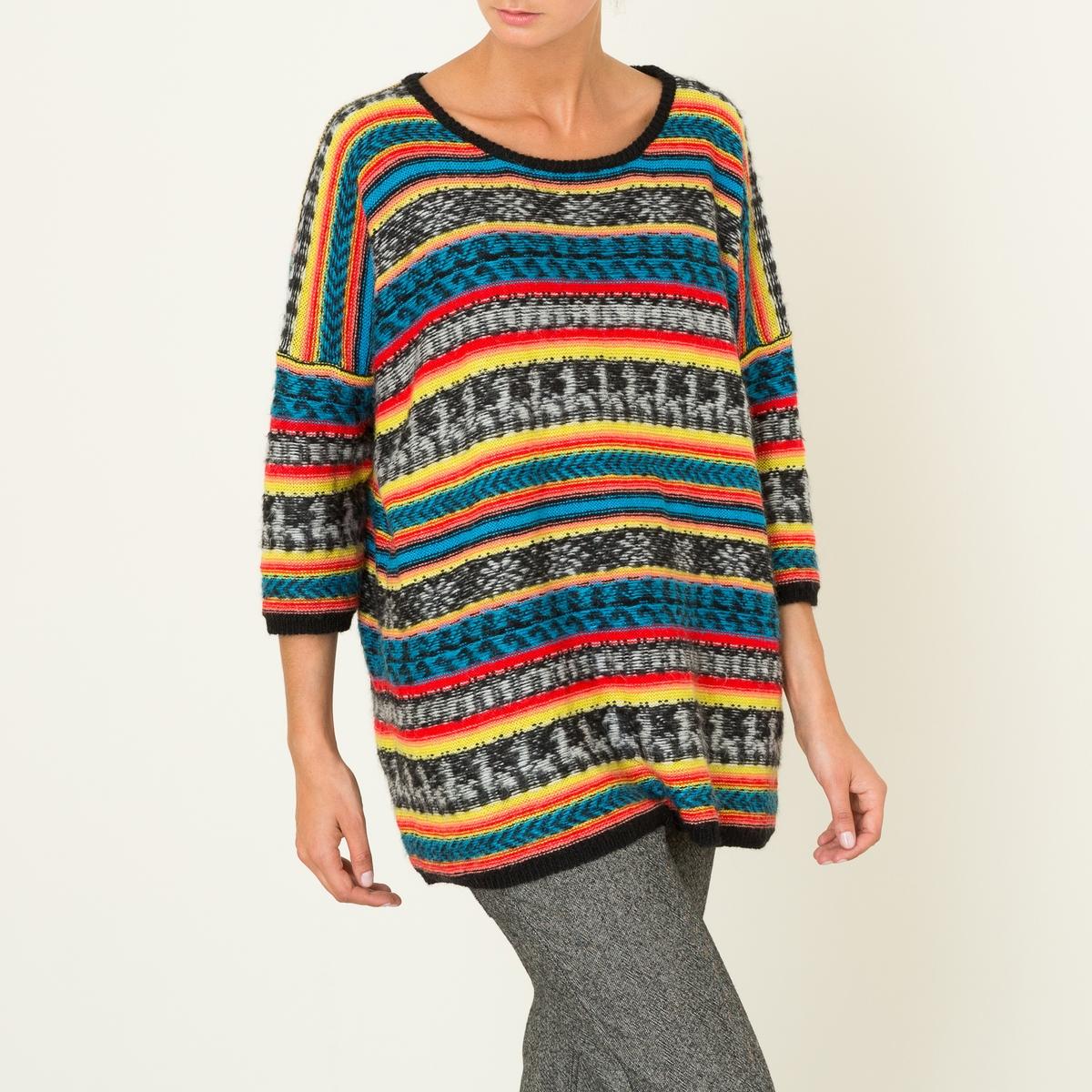 Пуловер женский GRINGOСостав и описание Материал : 38% акрила, 32% полиамида, 30% альпакиМарка : MES DEMOISELLES<br><br>Цвет: разноцветный<br>Размер: M