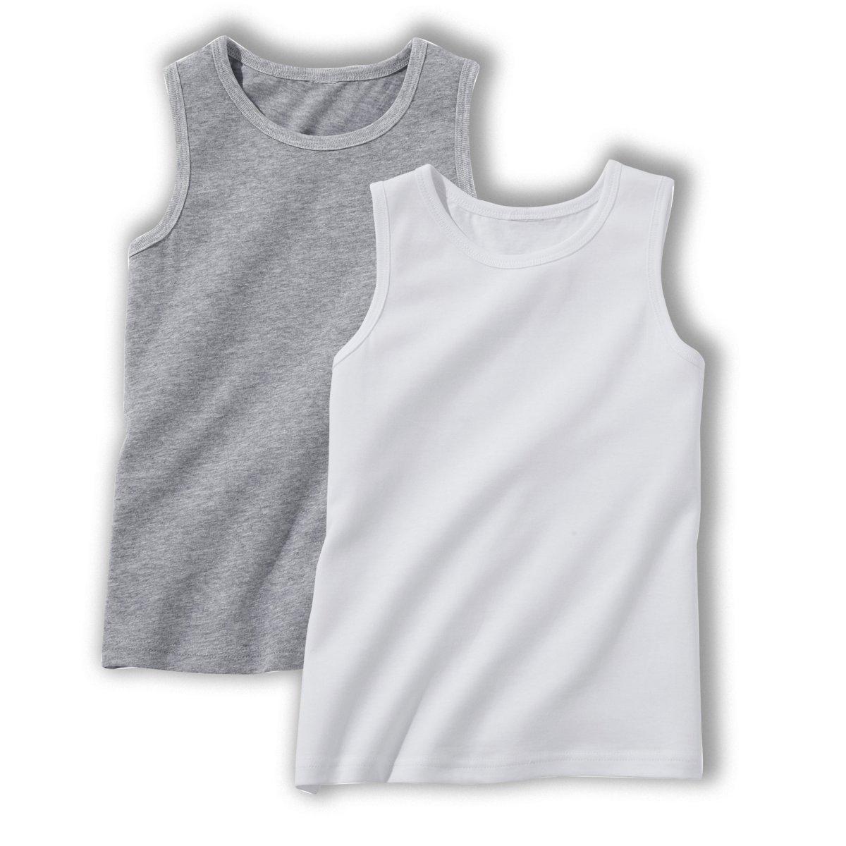 Комплект из 2 однотонных футболок, 3-12 лет