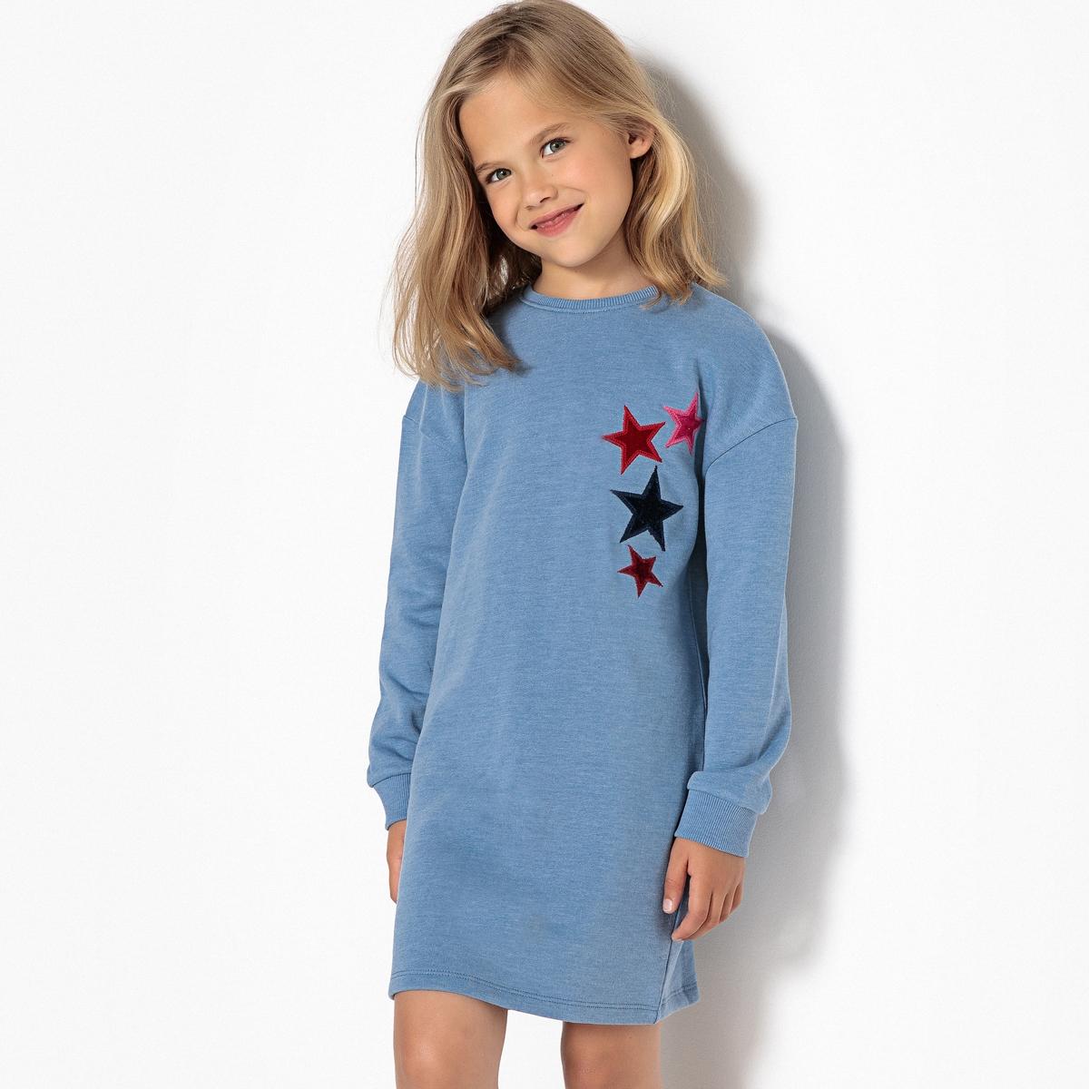 Платье из мольтона с рисунком звезды из велюра 3-12 лет бермуды из мольтона на 3 12 лет