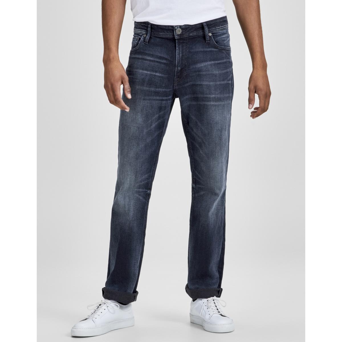 Джинсы стрейч с 5 карманами, JJICLARK JJORIGINAL прямые джинсы с заниженной посадкой и 5 ю карманами arizona