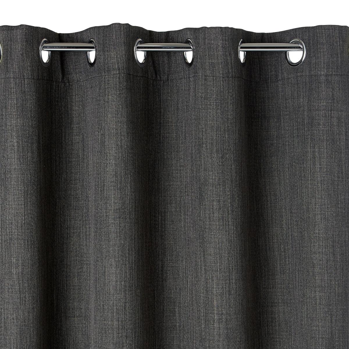 Штора La Redoute Затемняющая с люверсами EXURIE 180 x 140 см серый штора с люверсами 100% хлопок aron