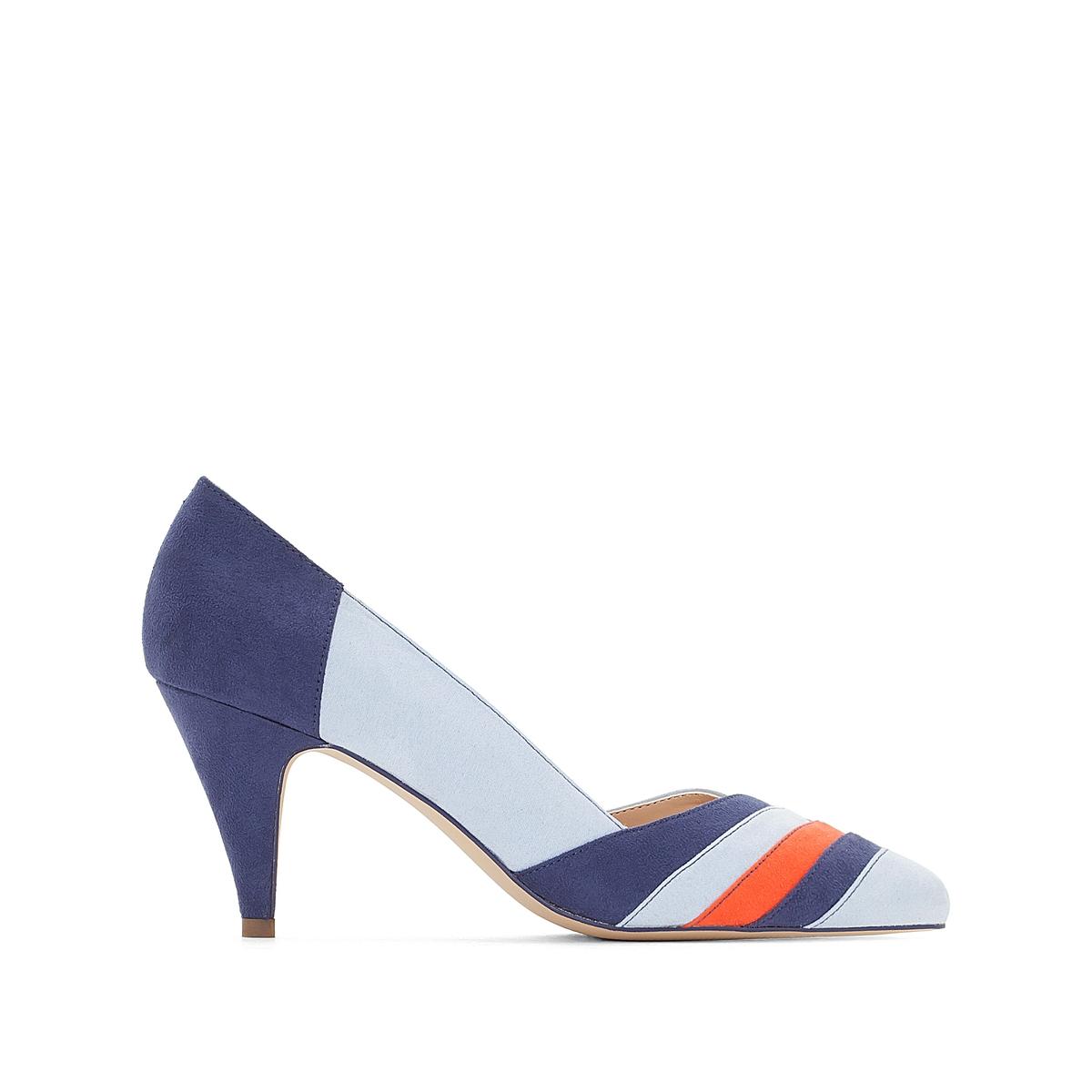 Туфли с графичным многоцветным принтомОписание:Детали •  Каблук-шпилька •  Высота каблука : 8 см •  Застежка : без застежки •  Заостренный мысок •  Гладкая отделкаСостав и уход •  Верх 100% синтетический материал •  Подкладка 100% синтетический материал •  Стелька 100% кожа •  Подошва 100% эластомер<br><br>Цвет: оранжевый/разноцветный,синий/разноцветный