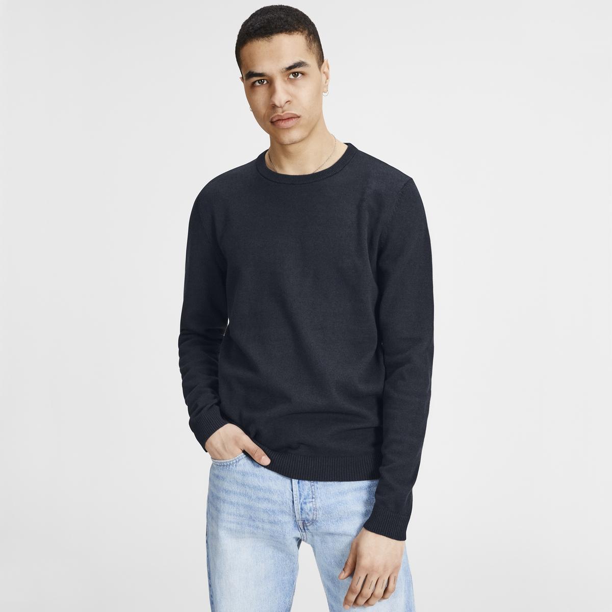 Пуловер LaRedoute С круглым вырезом из тонкого трикотажа S синий пуловер laredoute с круглым вырезом из плотного трикотажа s черный