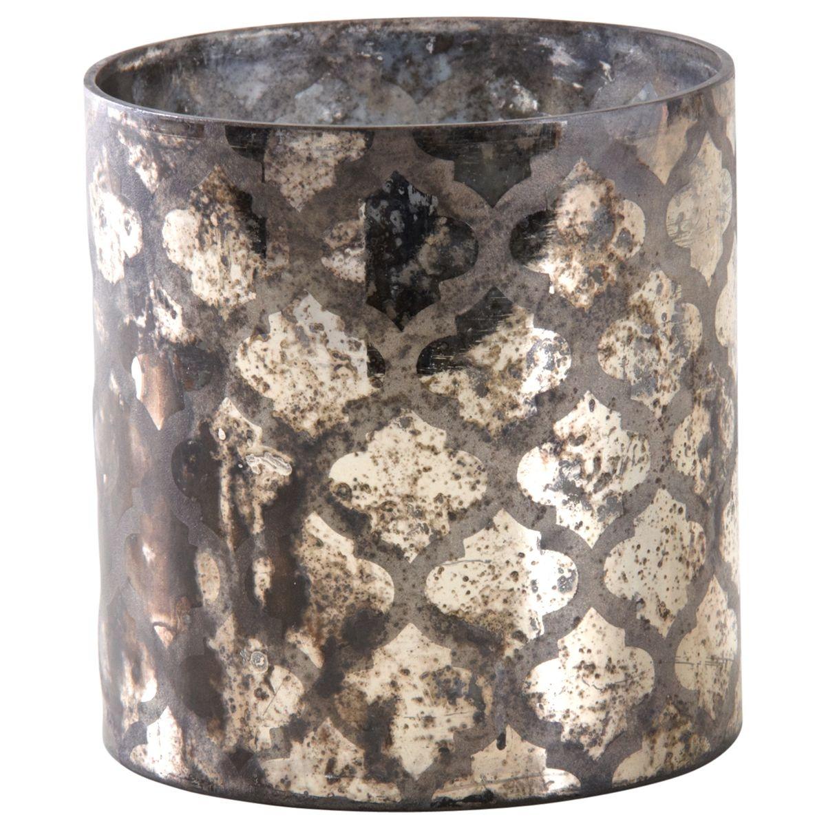 Photophore en verre antique Madea
