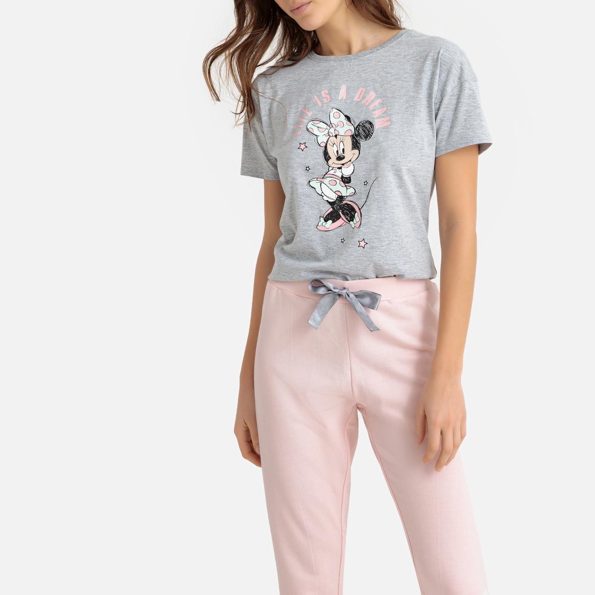 Pijama estampado de mangas curtas, Minnie