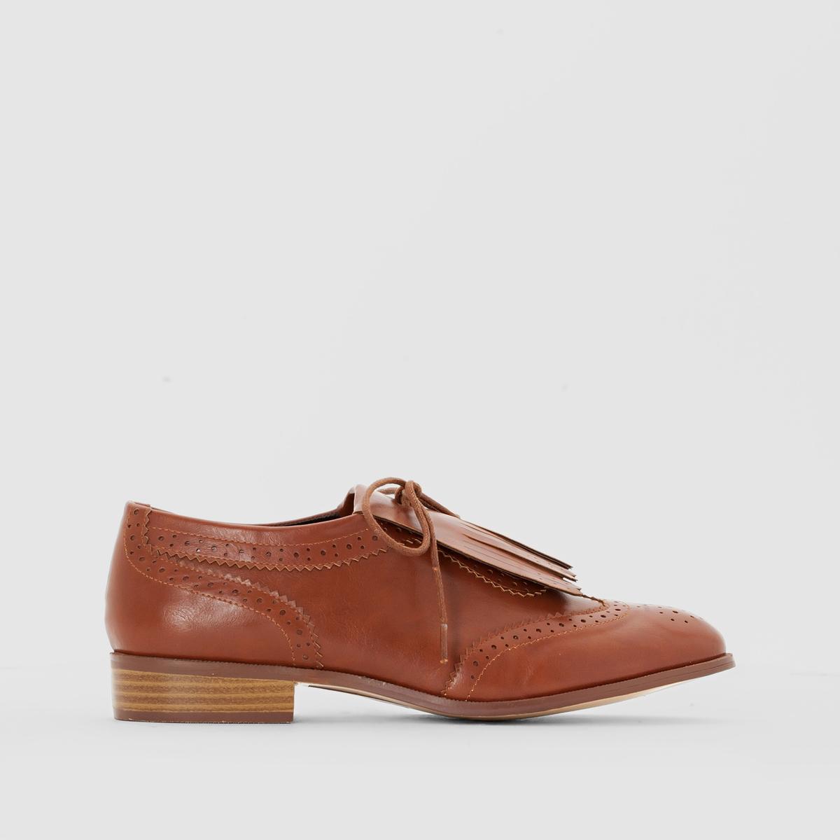 Ботинки-дерби с мексиканской планкой