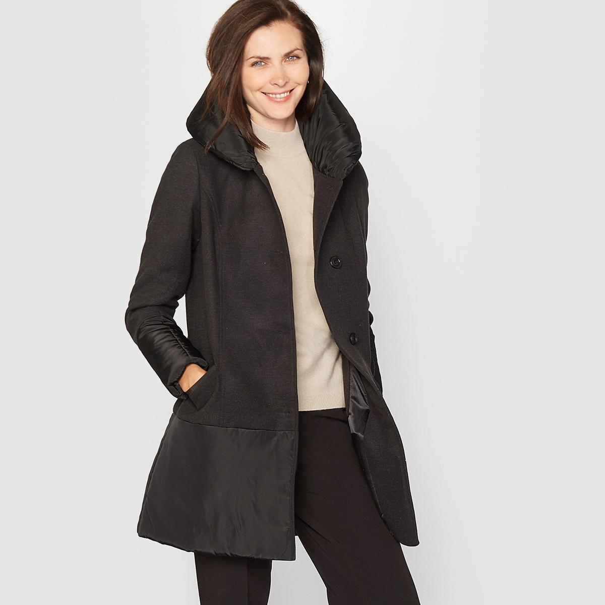 Пальто с эффектом шерстяного драпа